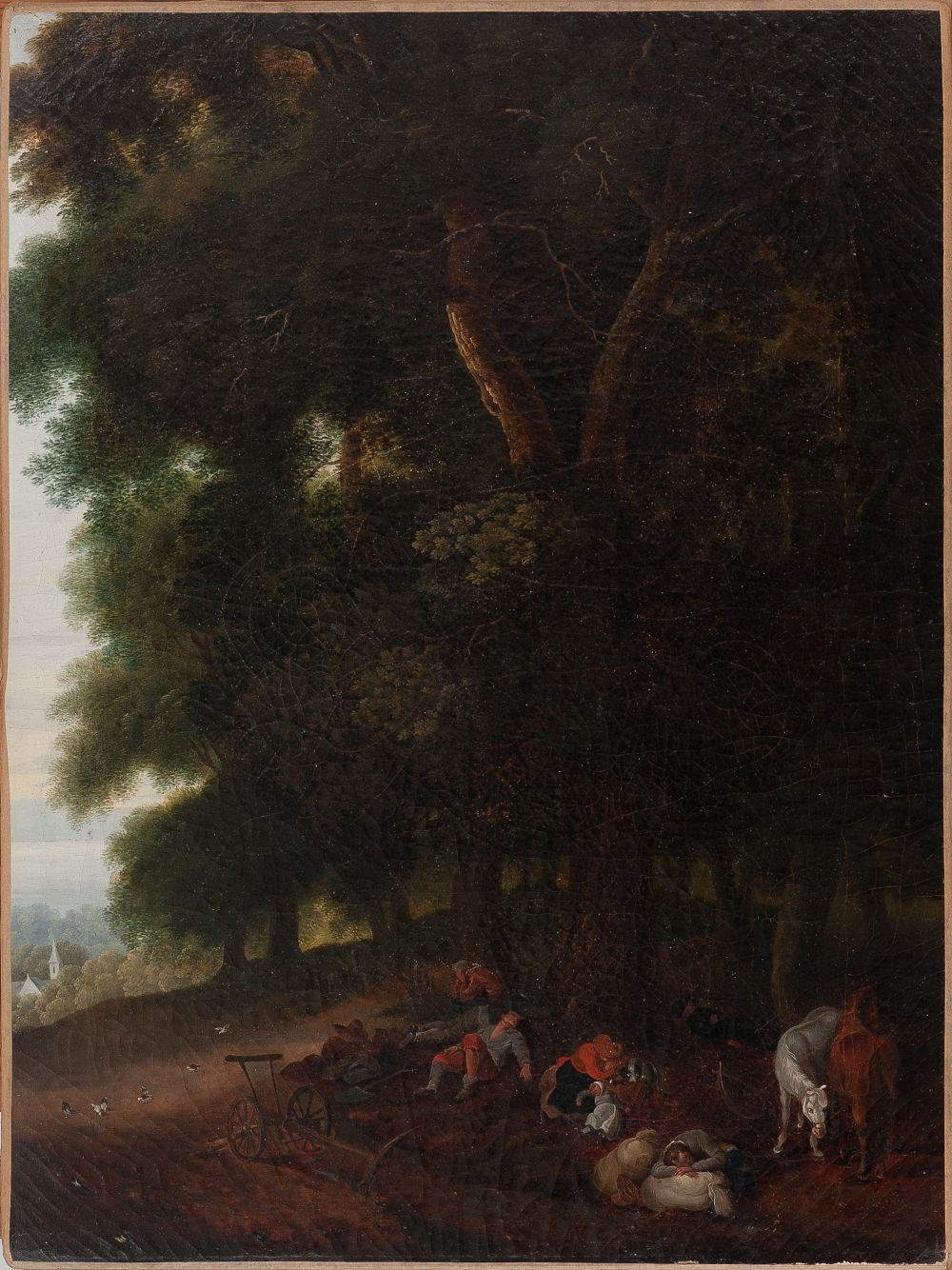 #105 Flemish painter 17th century The Rest | Auf der Rast Image