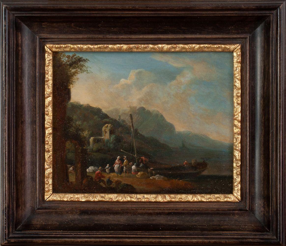 Southern Landscape with Fishing Boat | Südliche Landschaft mit Fischerboot
