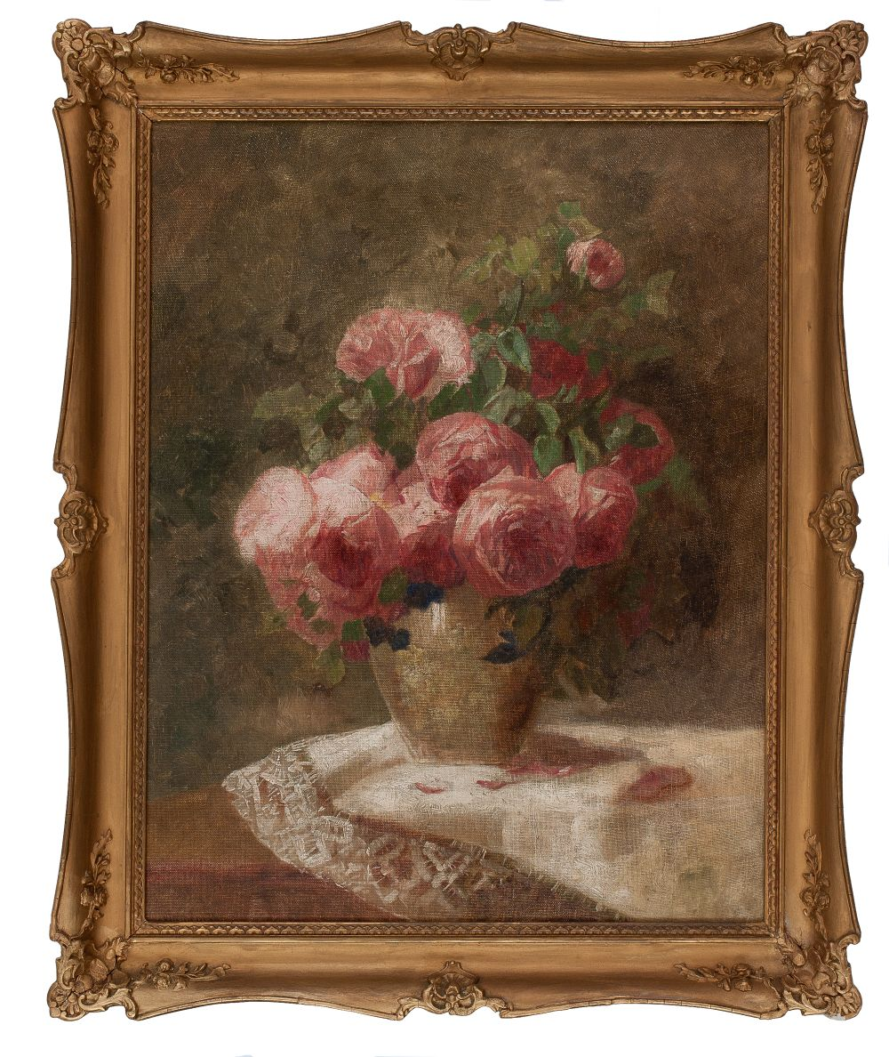 #71 Paul Unbereit Still Life Painting with Flowers | Blumenstillleben Image