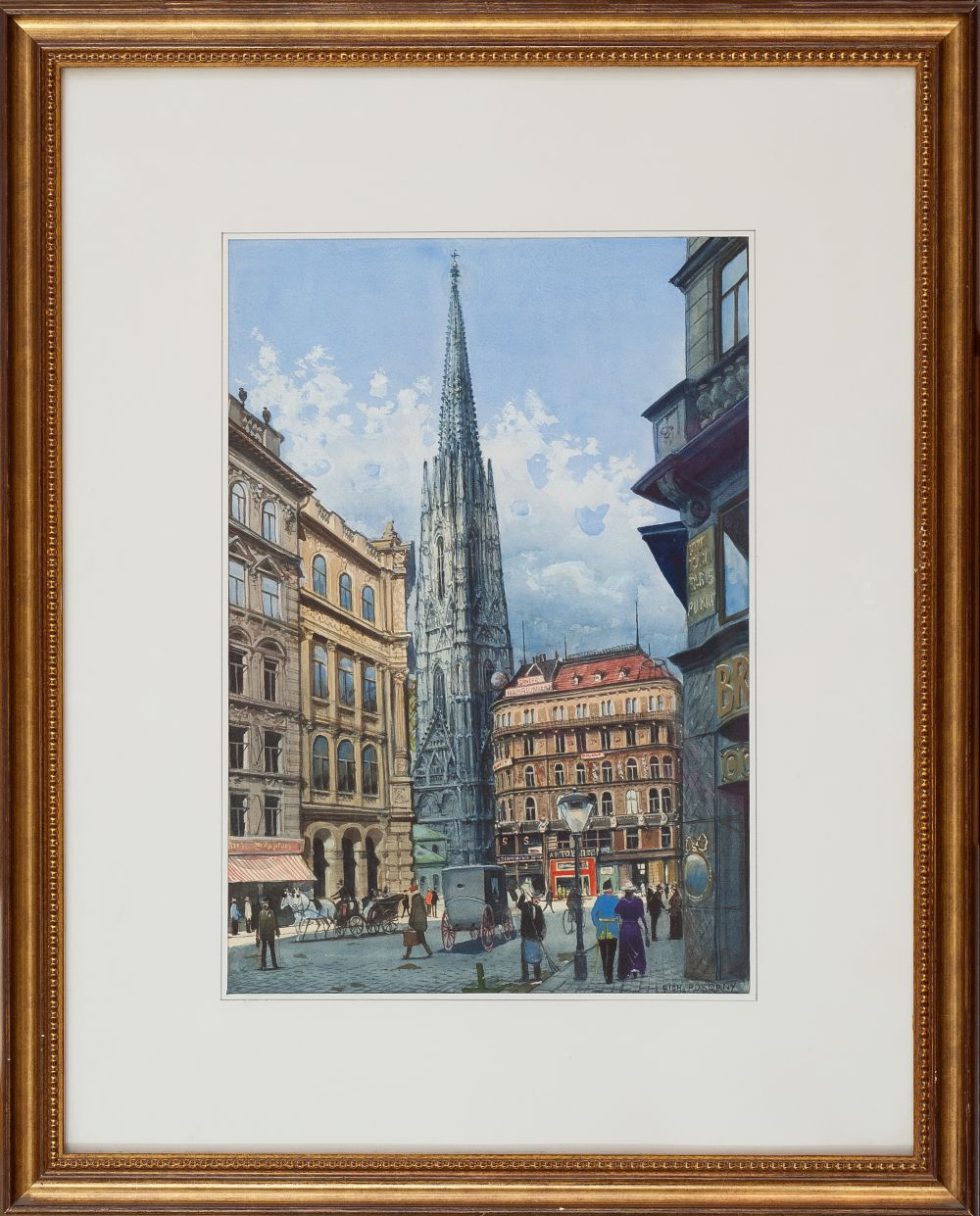 #73 Richard Pokorny Graben Street with a View of St. Stephen