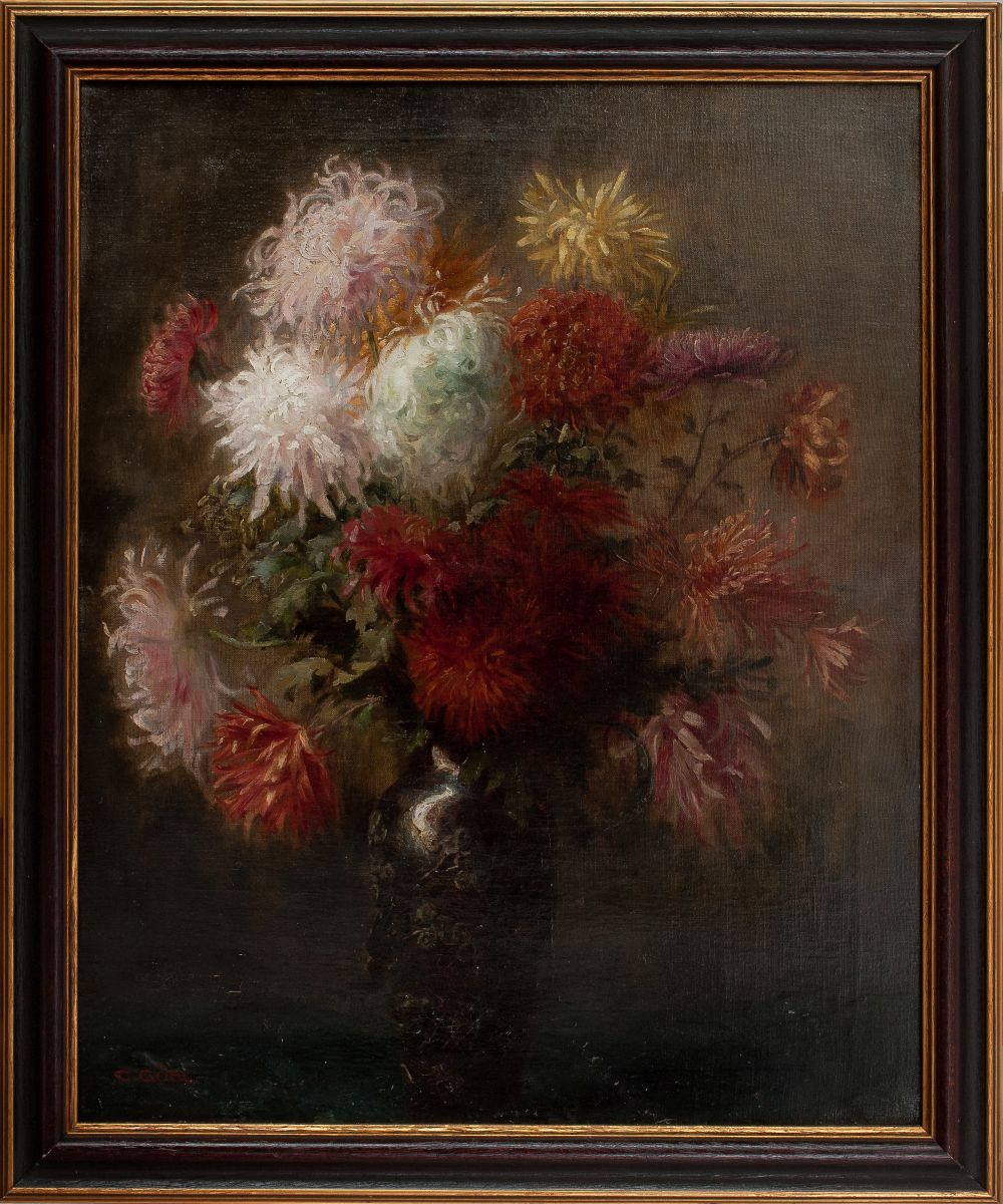 #78 Camilla Göbl-Wahl Bouquet with Asters and Dahlias | Blumenstrauß mit Astern und Dahlien Image