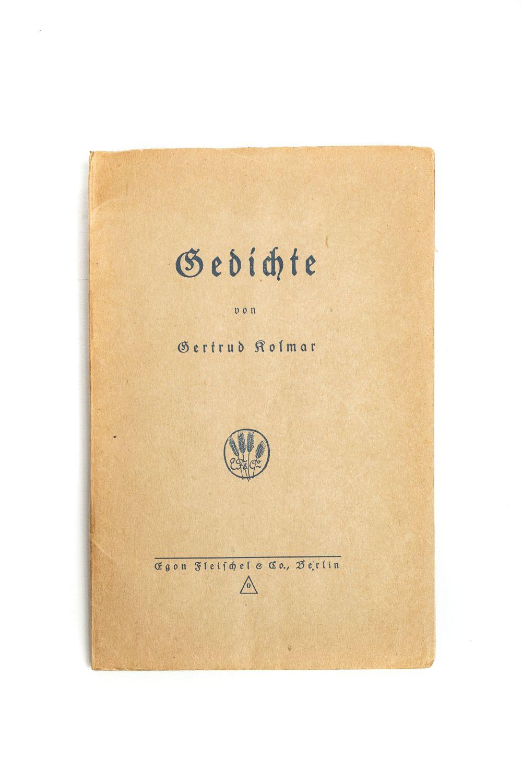#97 KOLMAR, Gertrud. [i. e. Gertrud Käthe CHODZIESNER] Image