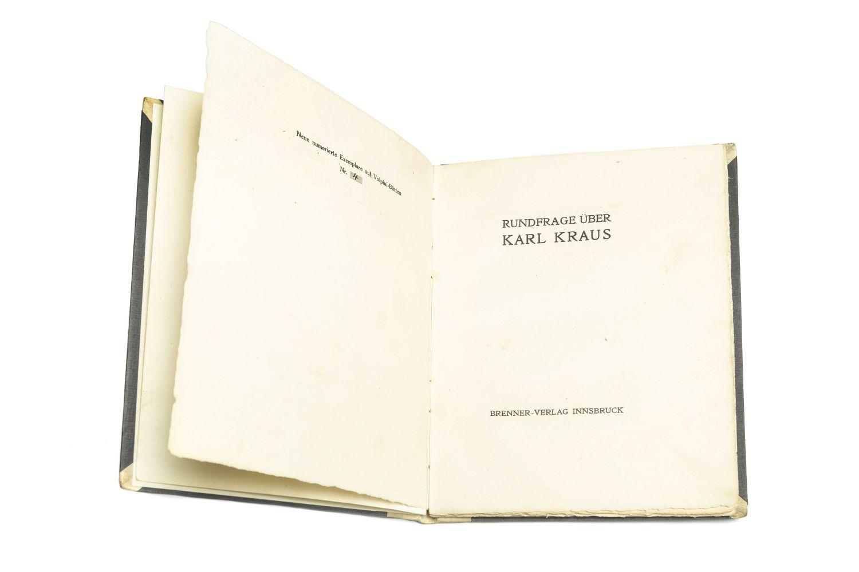 #98 KRAUS - [FICKER, Ludwig von, Ed.] Image