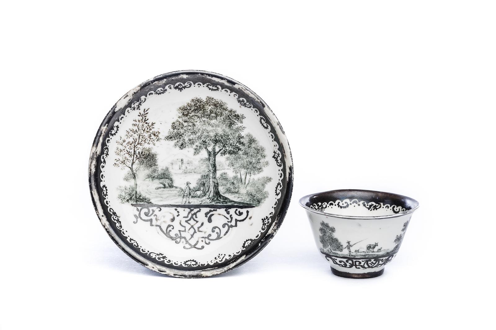 #195 Koppchen mit Unterschale, Meissen 1725 | Bowl with saucer, Meissen 1725 Image