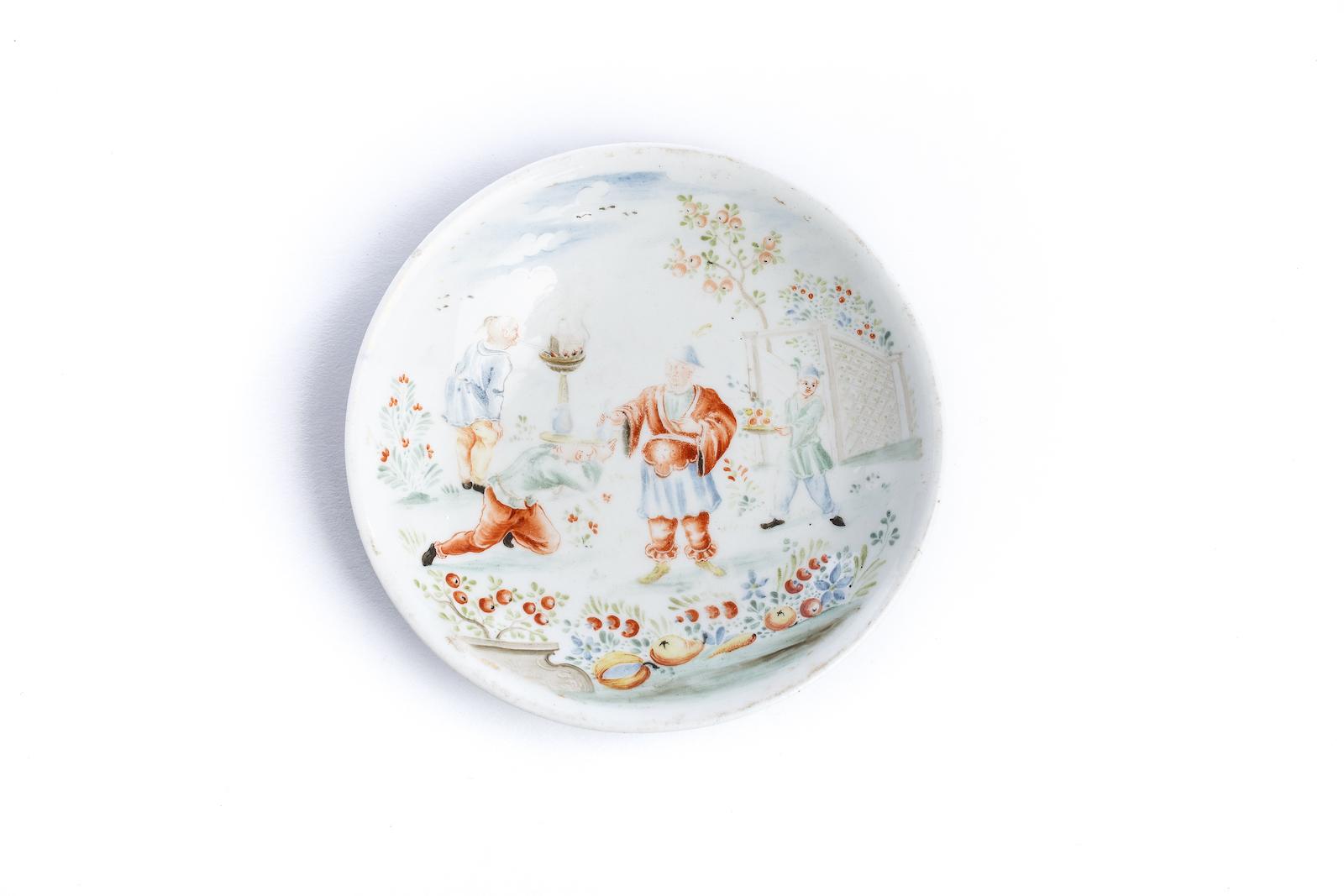 #20 Kleiner Bildteller, Meissen 1730/40 | Small picture plate, Meissen 1730/40 Image