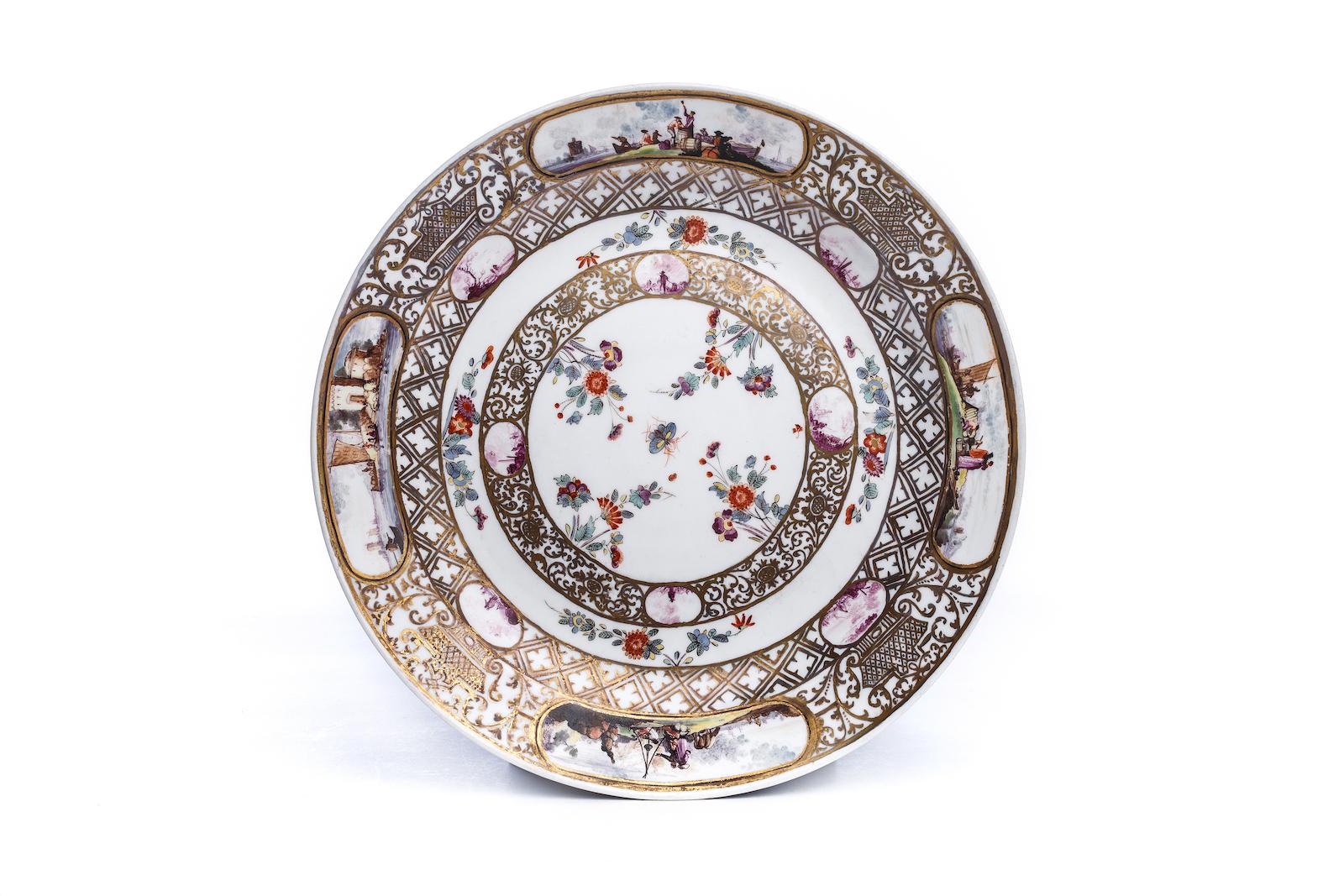 #207 Kleiner Prunkplatte, Meissen 1730/35 | Small splendor plate, Meissen 1730/35 Image