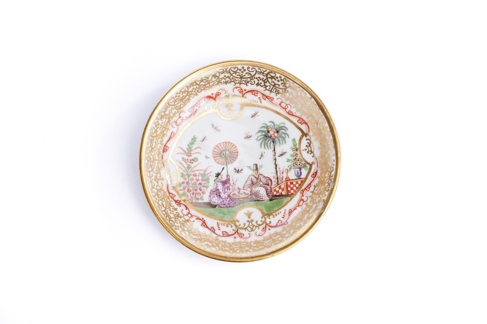 #23 Kleine Unterschale, Meissen 1720/25 |A plate with Image