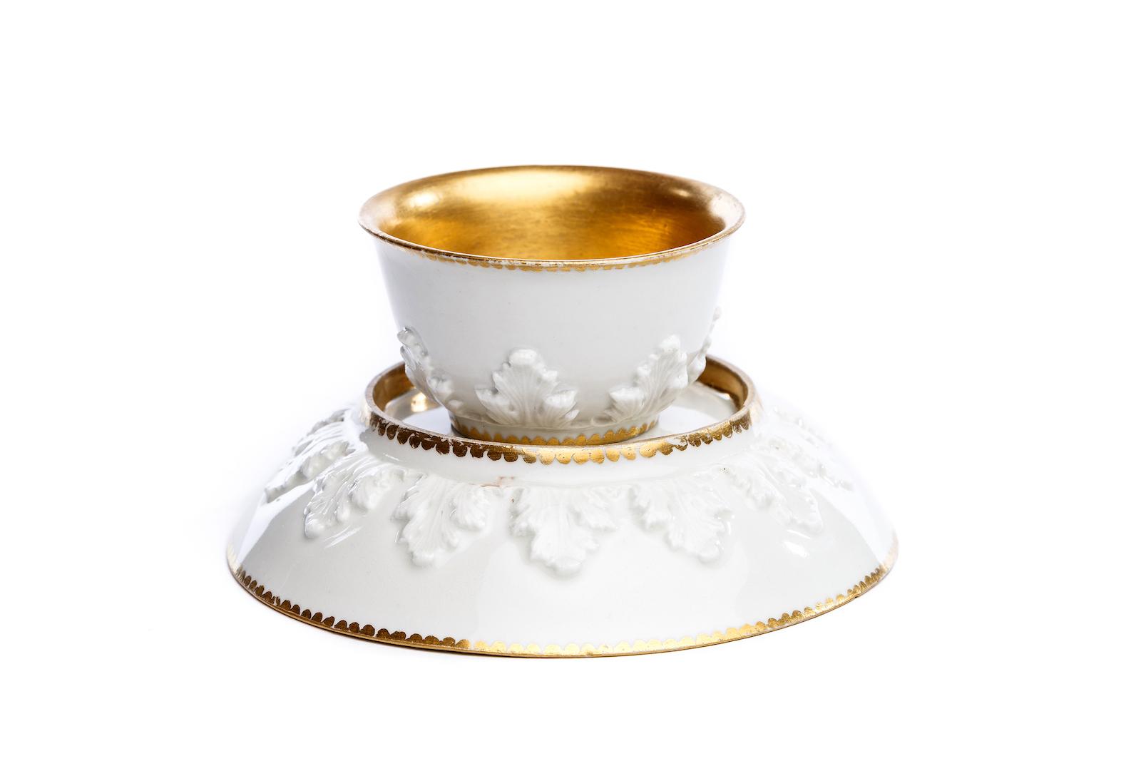 #93 Koppchen mit Unterschale, Meissen 1720/30   Bowl with saucer, Meissen 1720/30 Image