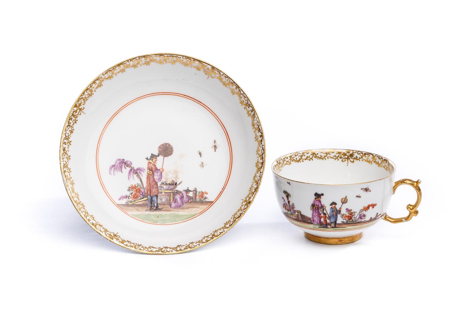 #97 Tasse mit Unterschale, Meissen 1723/24 | Cup with saucer, Meissen 1723/24 Image