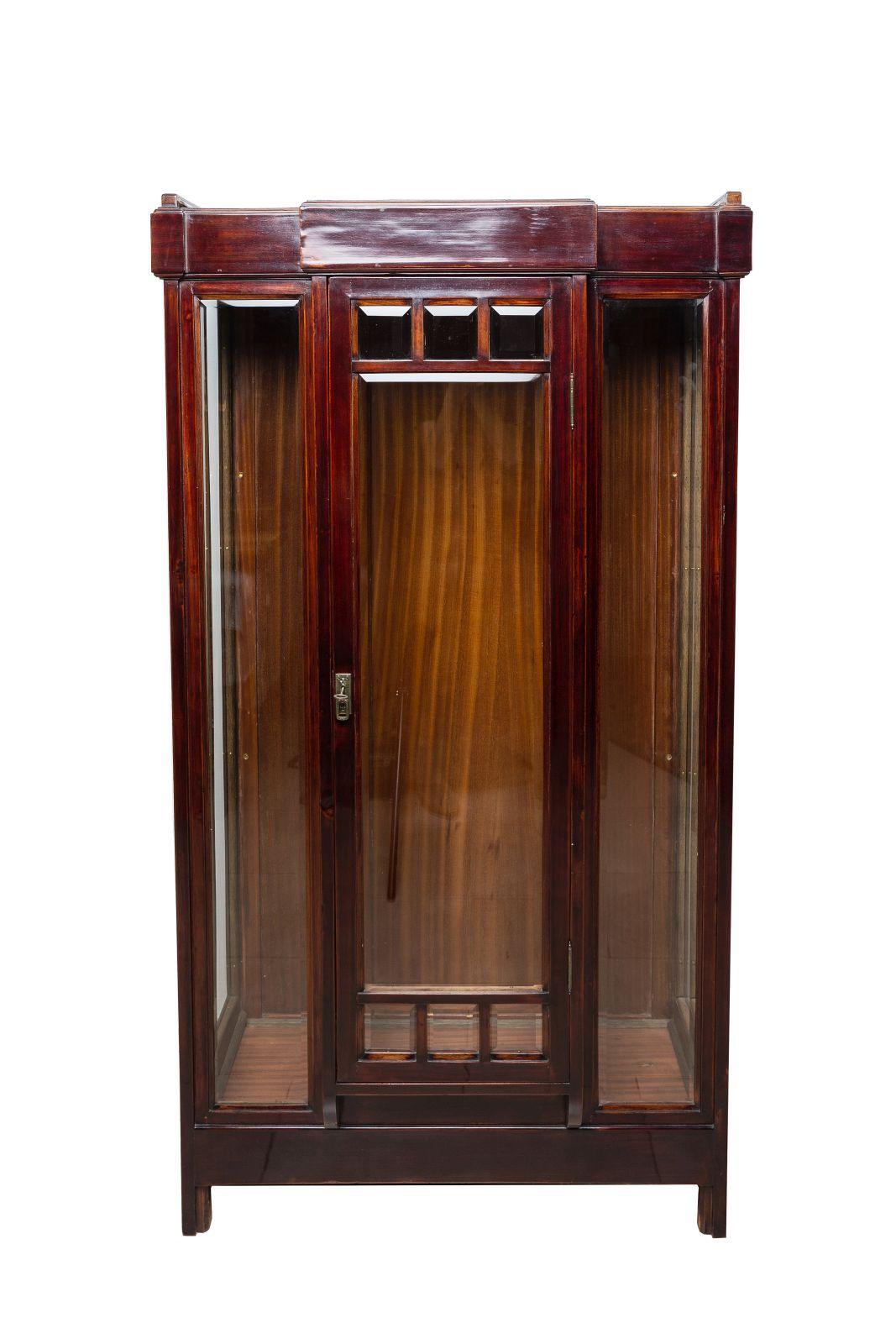 #107 Art Nouveau glass cabinet | Jugendstil Glasvitrine Image