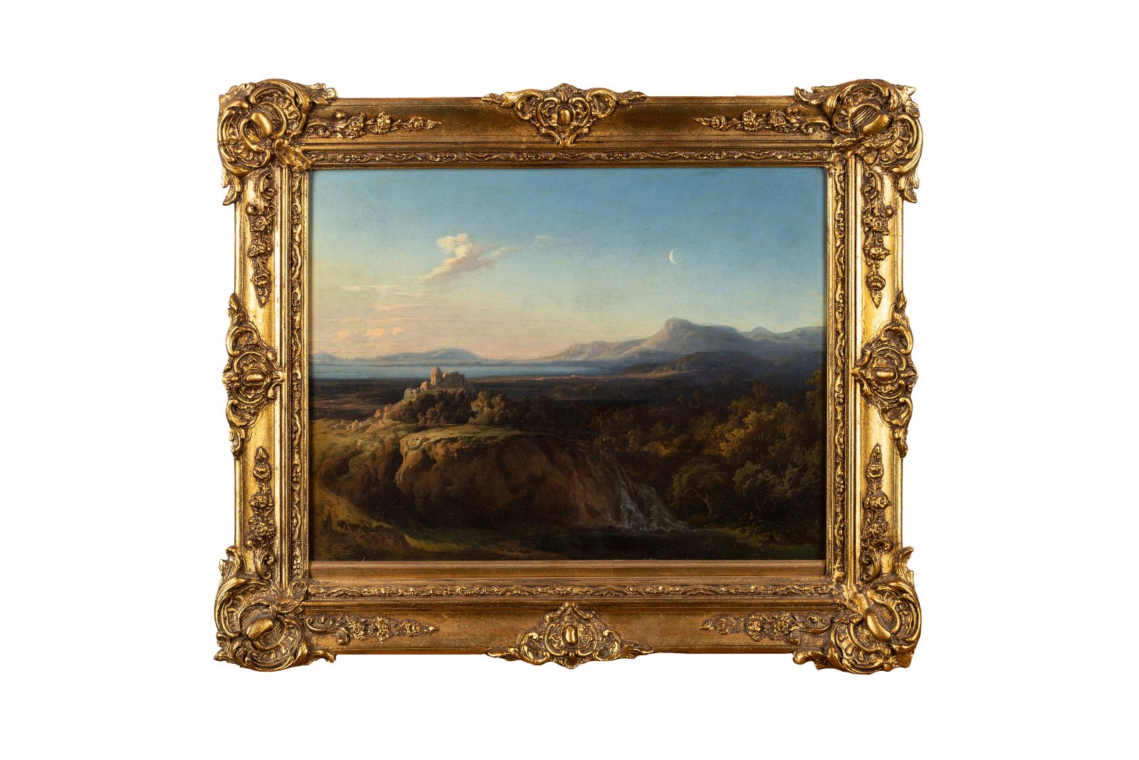 "#128 Southern landscape with castle | ""Südliche Landschaft mit Burg"" Image"