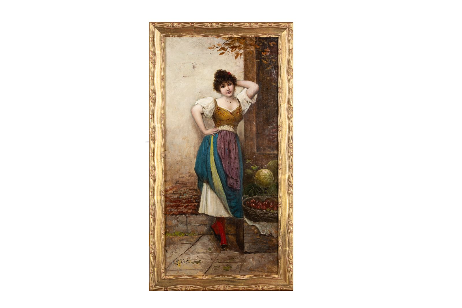 """#160 A. Goblet, """"Italian melon seller""""   A. Goblet, """"Italienische Melonenverkäuferin"""" Image"""