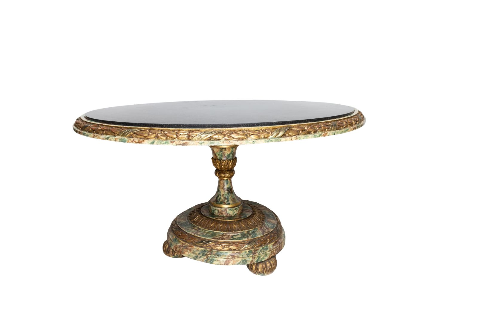 #35 Round table, painted in marble look, Sicily, late 18th century   Runder Tisch, staffiert in Marmoroptik, Sizilien, spätes 18. Jh. Image