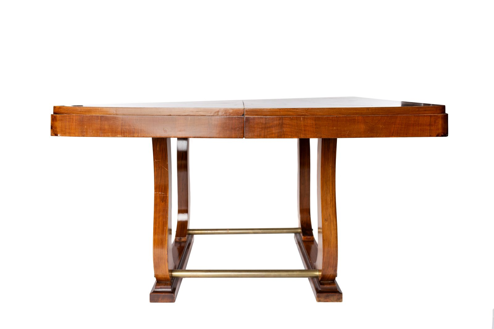 #39 Dining table with extending top, veneered, Art Deco, around 1930 | Esstisch mit ausziehbarer Platte, furniert, Art Déco, um 1930 Image