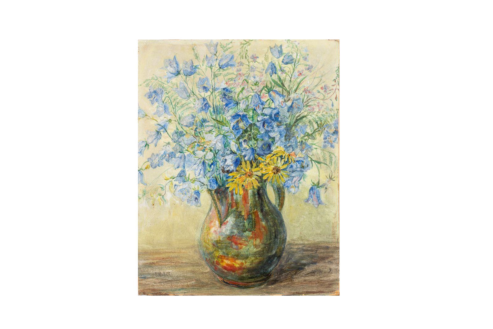 #45 Ernst Huber (1895-1960), flower still life, around 1930 | Ernst Huber (1895-1960), Blumenstillleben, um 1930 Image
