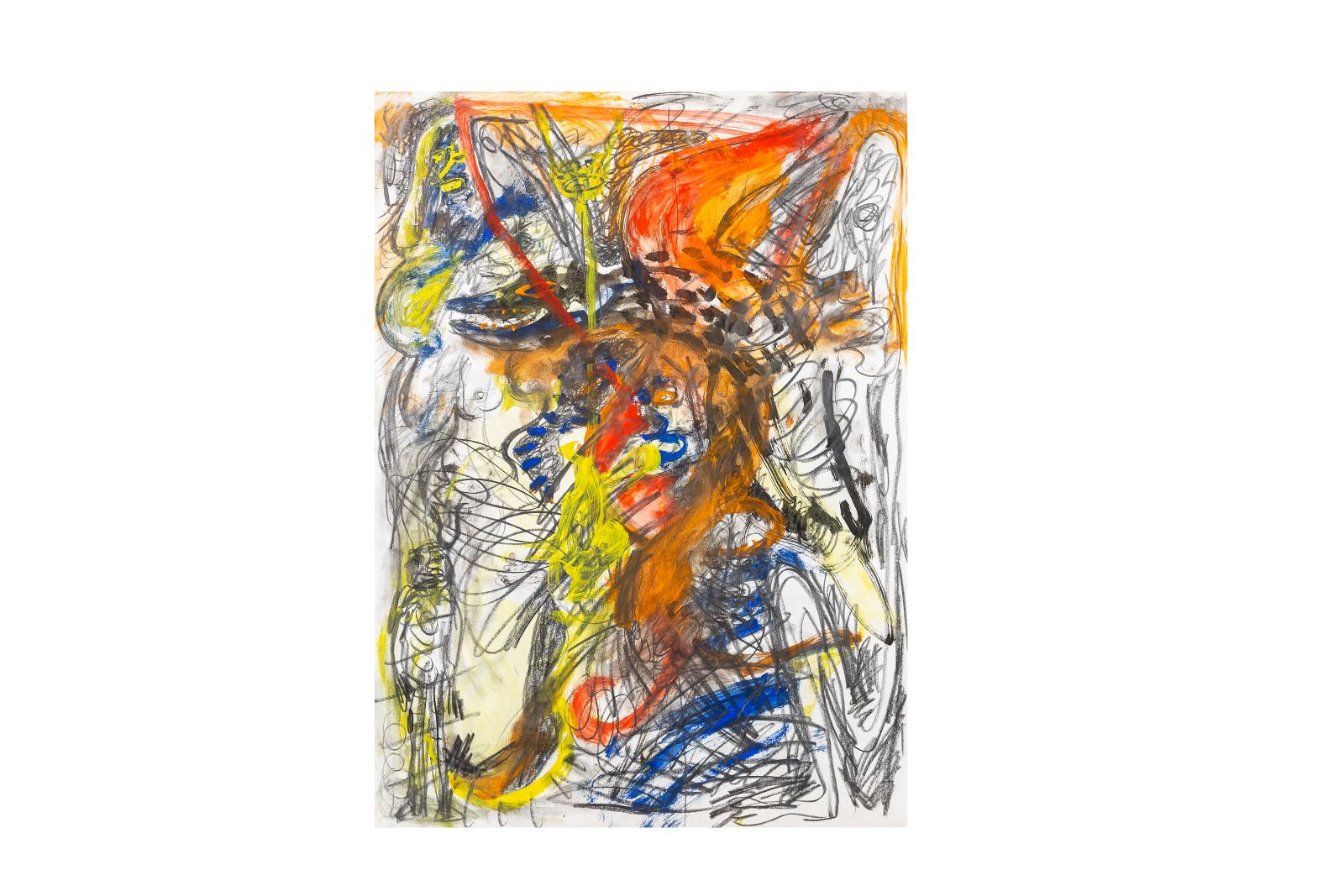 "#66 Franz Hitzler, ""Abstract Composition"", 1980, mixed media, * | Franz Hitzler, ""Abstrakte Komposition"", 1980, Mischtechnik,* Image"