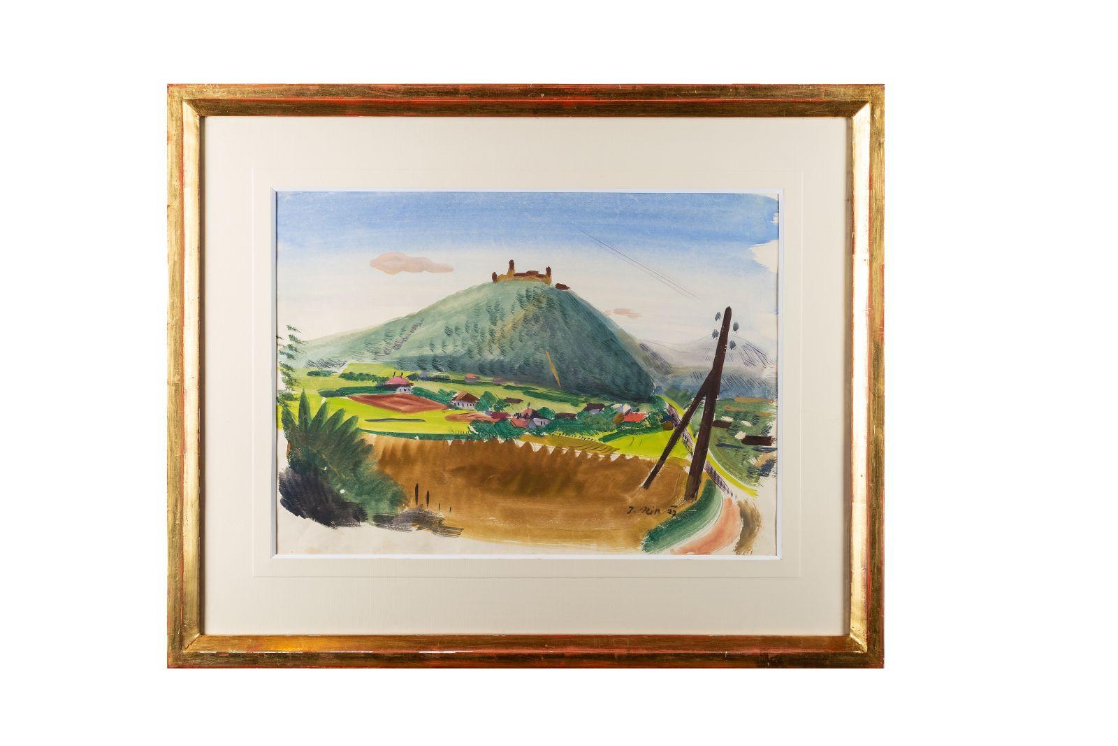 "#82 J. Rim, ""View of Göttweig"" | J. Rim, ""Blick auf Göttweig"" Image"