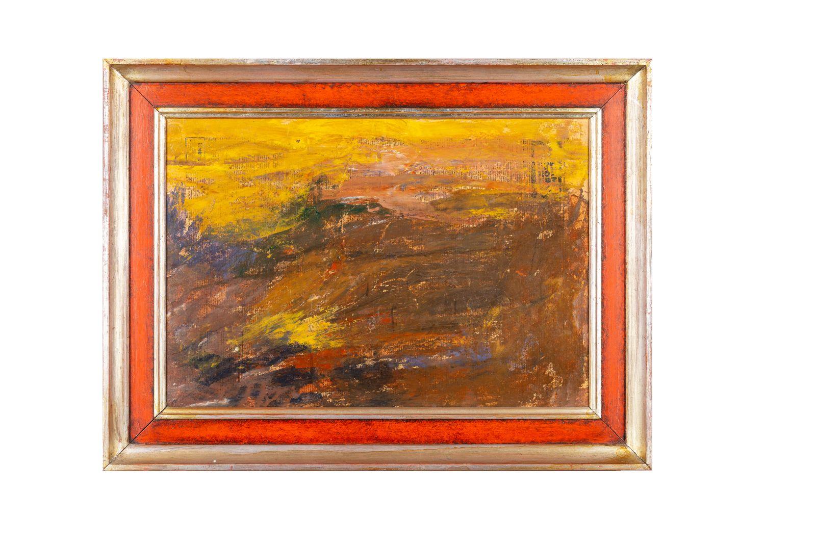 "#92 Leon Abramowicz, ""Abstract Landscape"" | Leon Abramowicz, ""Abstrakte Landschaft"" Image"