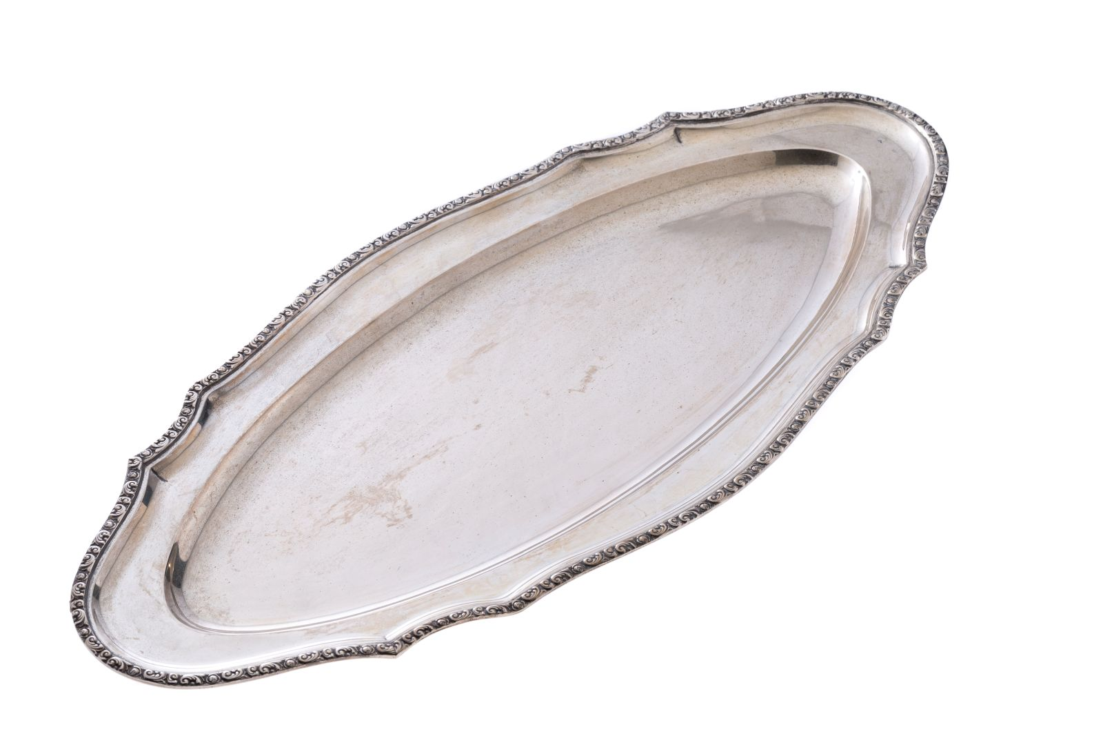 #134 Silver fish plate   Fischplatte Image