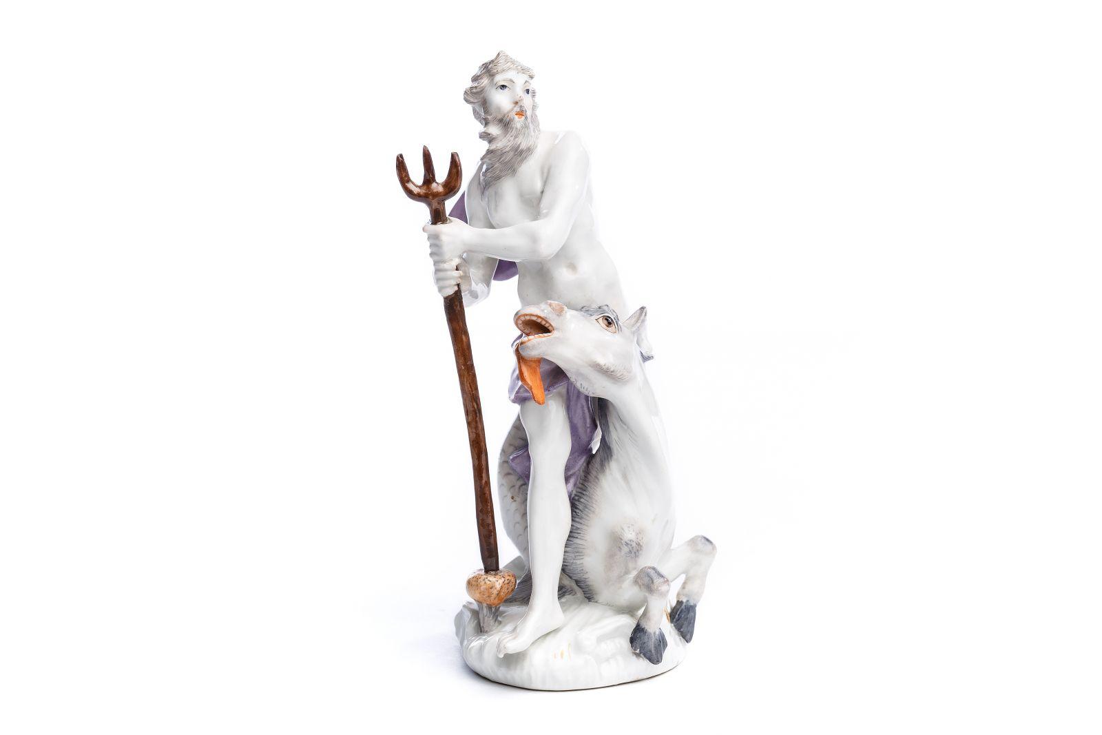 "#150 Porcelain figure ""Poseidon and Hippocampus"", Meissen 1755 | Porzellanfigur ""Poseidon und Hippocampus"", Meissen 1755 Image"
