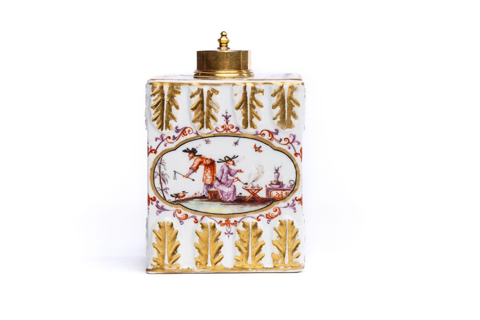 #154 Tea tin, Meissen 1720/30 | Teedose, Meissen 1720/30 Image