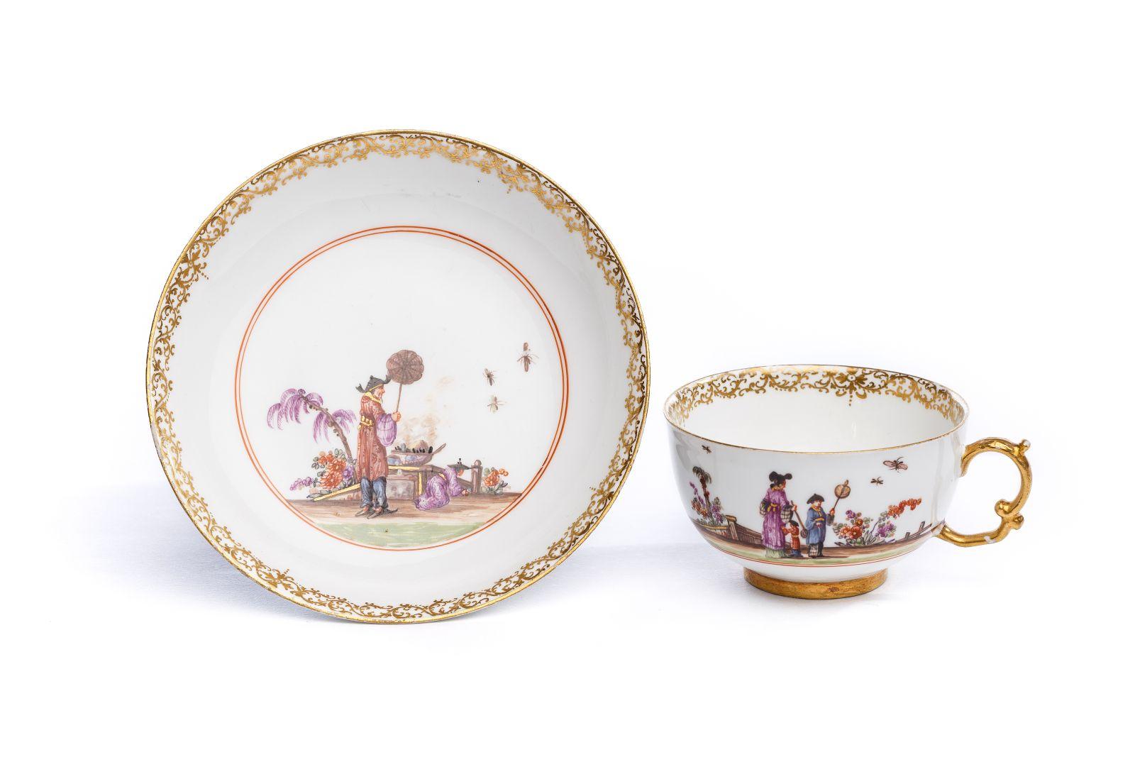 #162 Bowl with saucer, Meissen 1724/25 | Koppchen mit Unterschale, Meissen 1724/25 Image