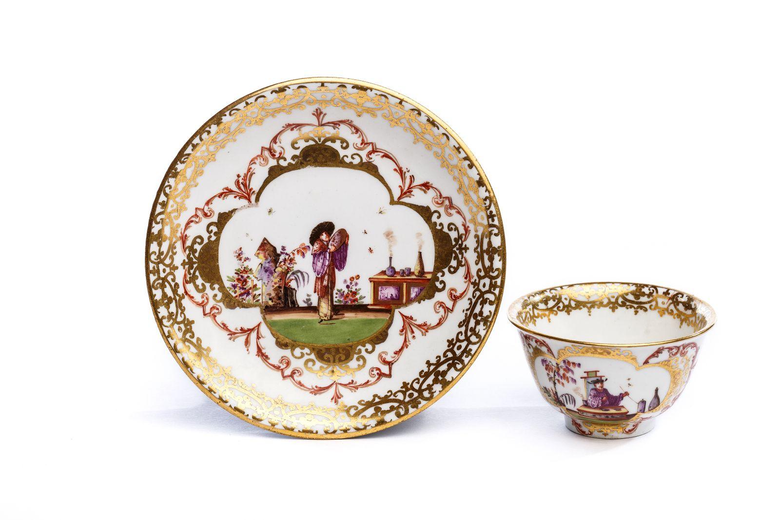 #166 Bowl with Saucer, Meissen 1723/25   Koppchen mit Unterschale, Meissen 1723/25 Image