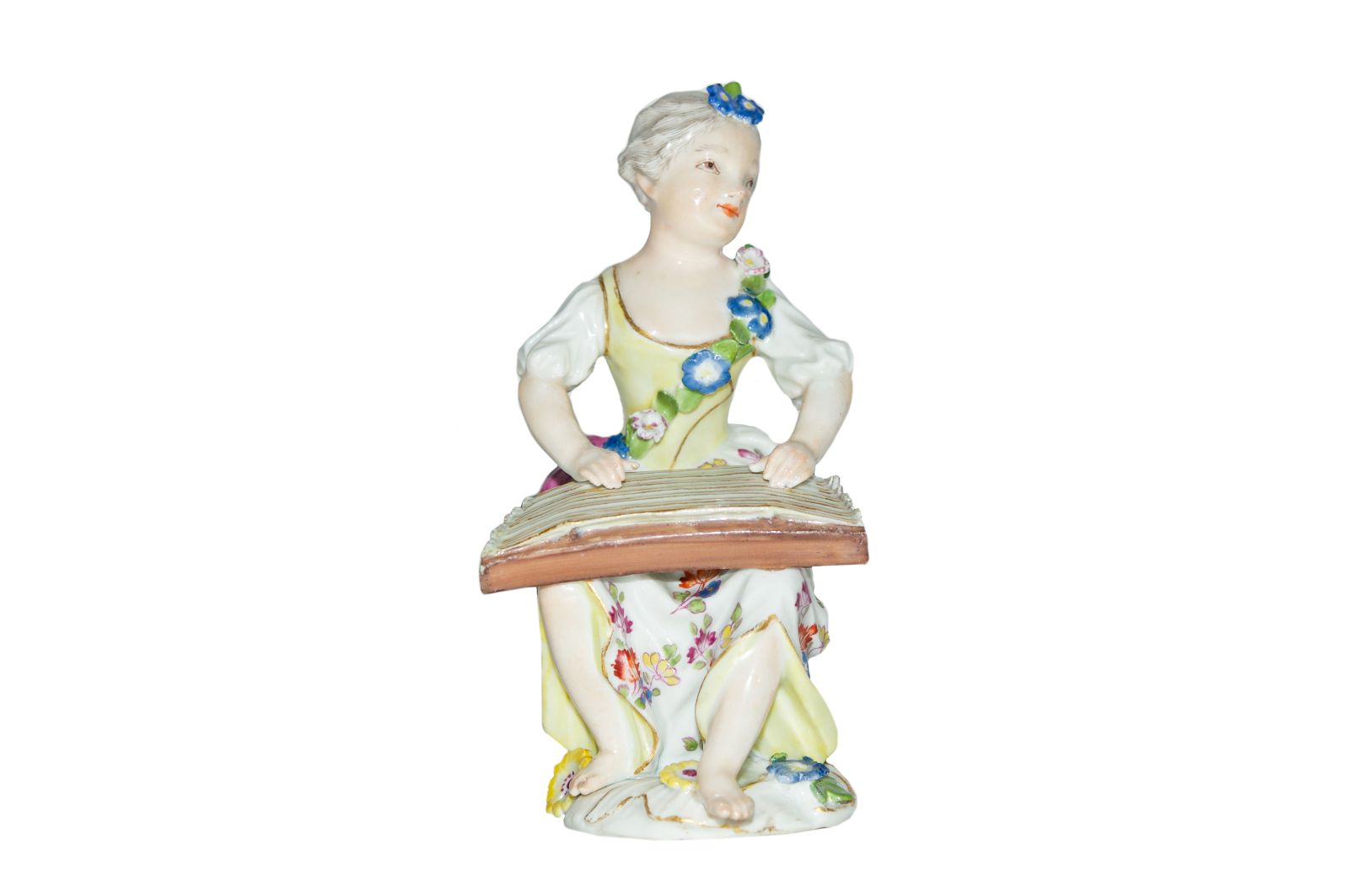 #184 Musician with a shiver from the girl band. Meissen 1750 | Musikerin mit Zitter aus der Mädchenkapelle Image