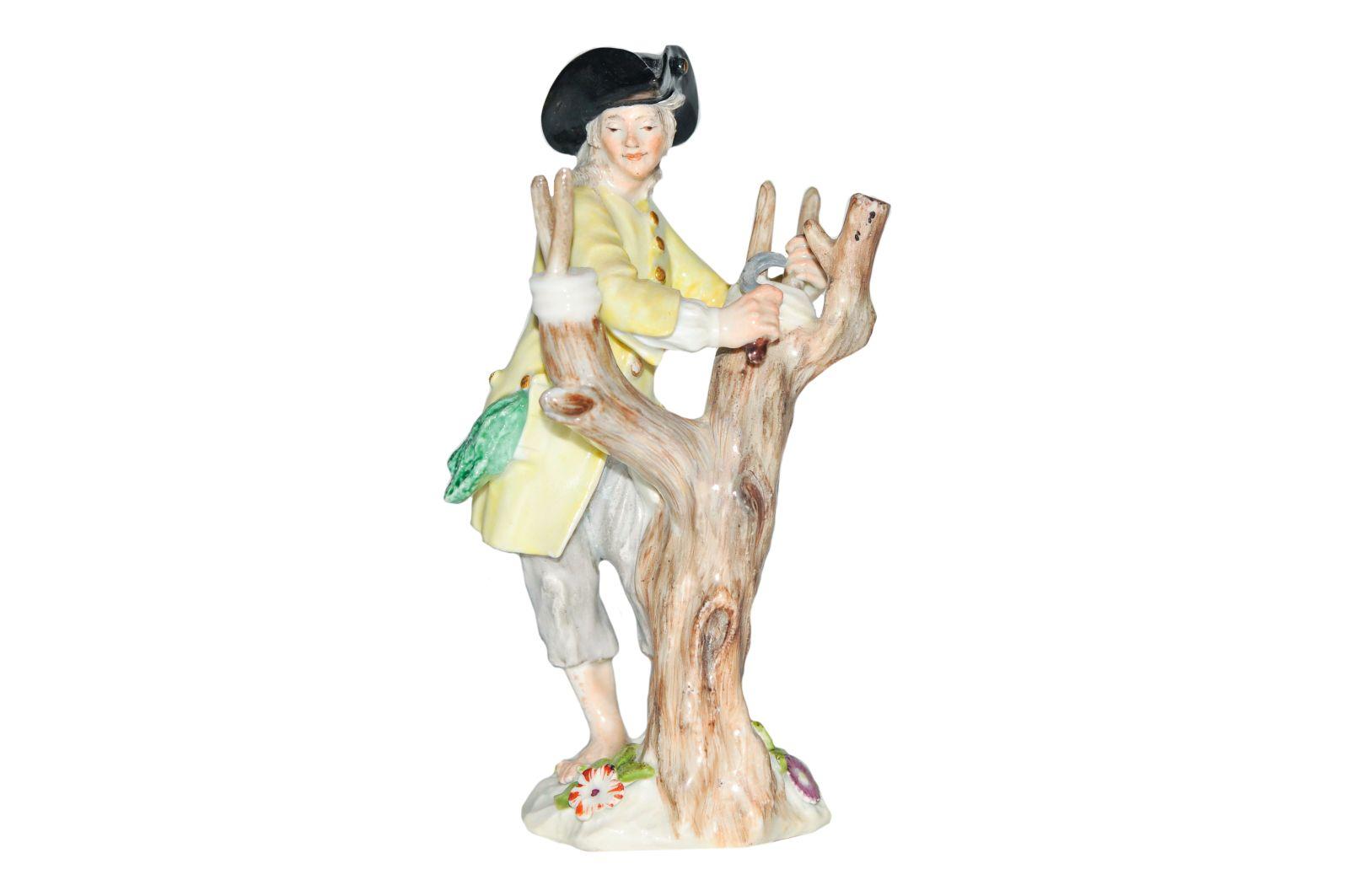 #185 Winegrower with vine tree, Meissen 1750 | Weinbauer mit Weinstock, Meissen 1750 Image