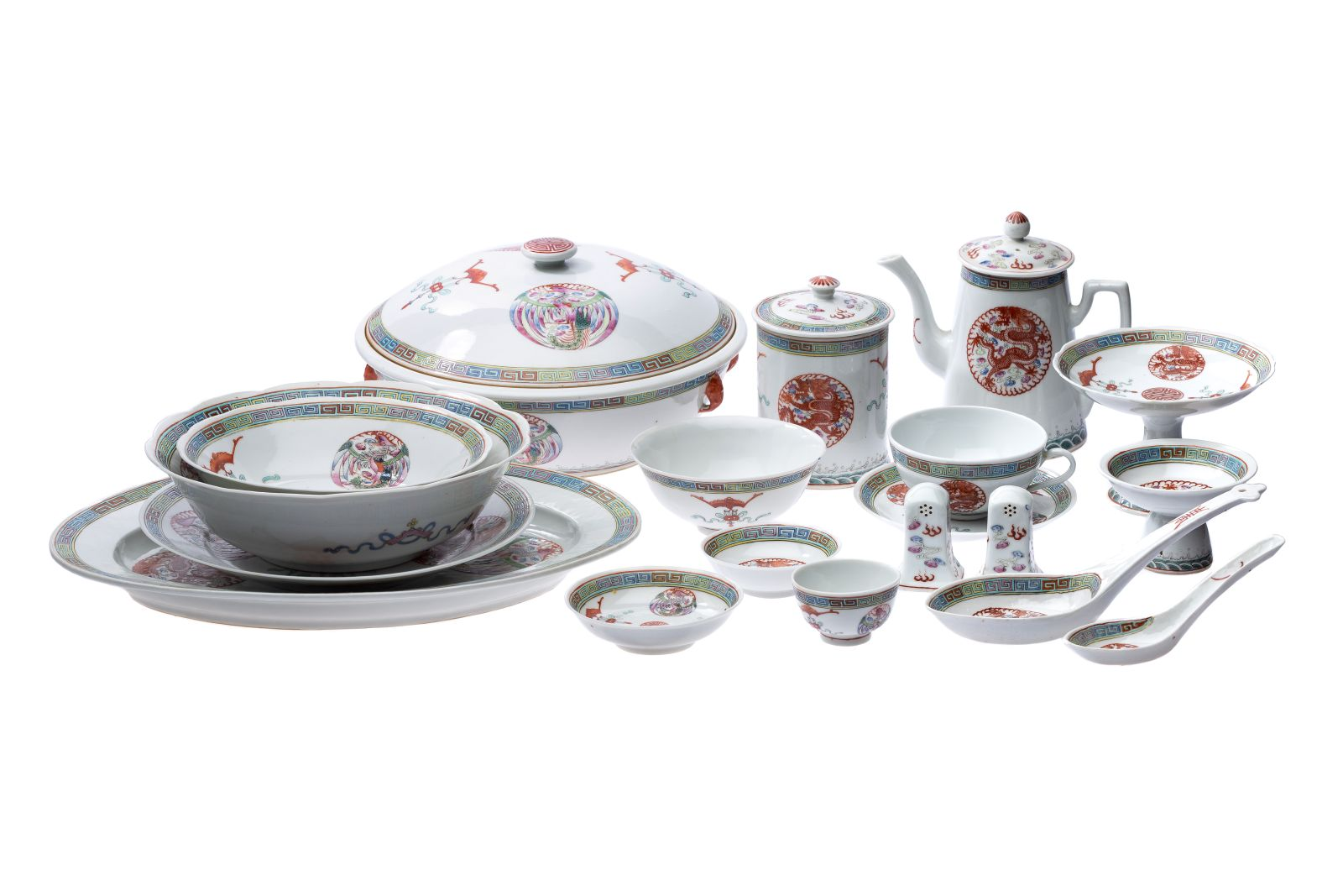 #20 Chinese tea, coffee and dinner service | Chinesisches Tee- Kaffee- und Tafelservice Image