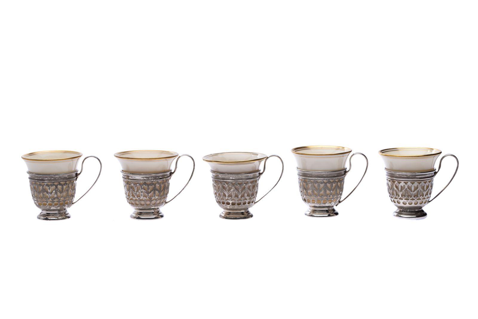 #22 5 silver cups | 5 Silbertassen Image