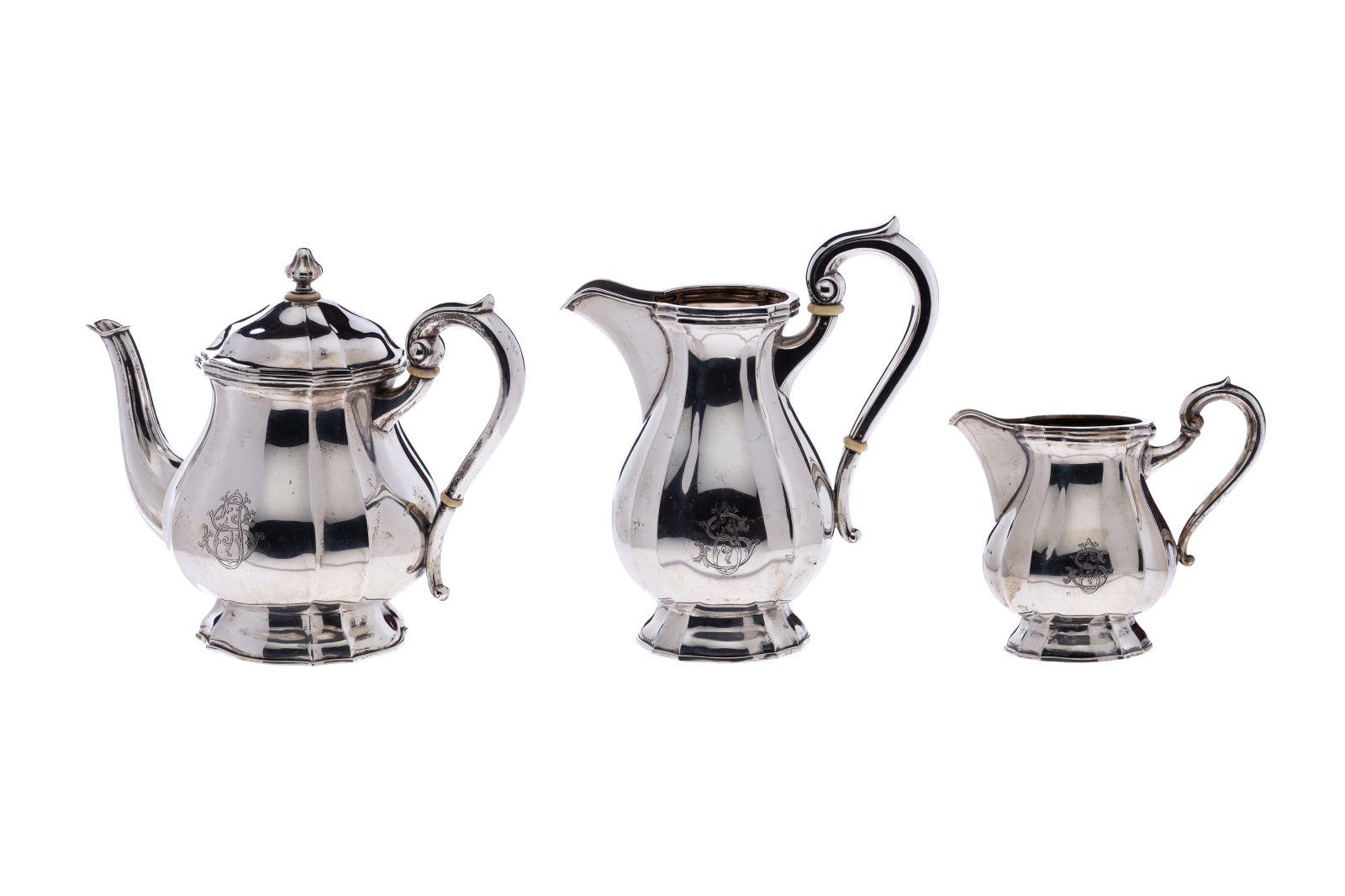 #59 Teapot, large milk jug, small milk jug | Teekanne, große Milchkanne, kleine Milchkanne Image