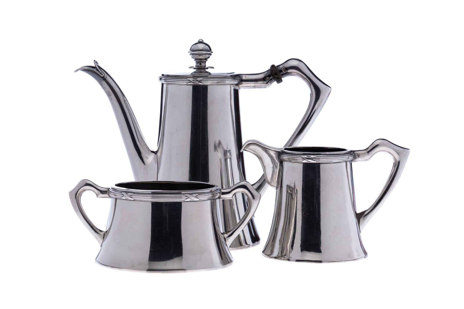#62 Coffee pot, milk jug, sugar bowl without lid |Kaffekanne, Milchkanne, Zuckerdose ohne Deckel Image
