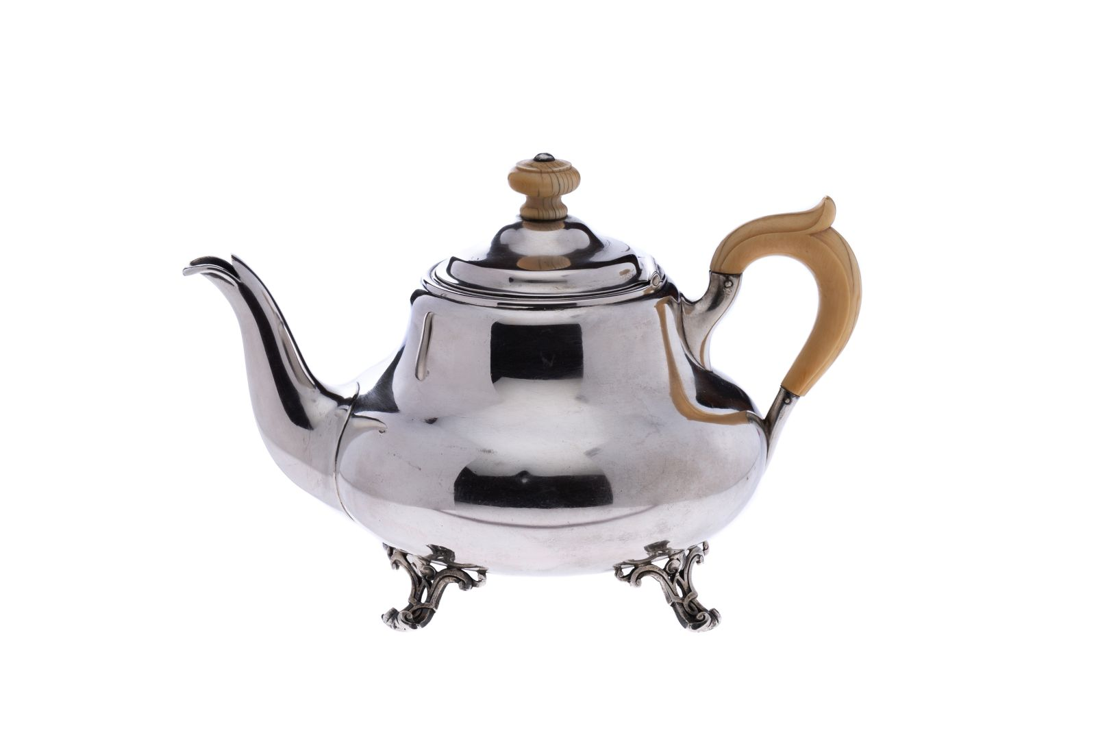 #65 Teapot with wooden handle + wooden handle | Teekanne mit Holzgriff + Holzhenkel Image