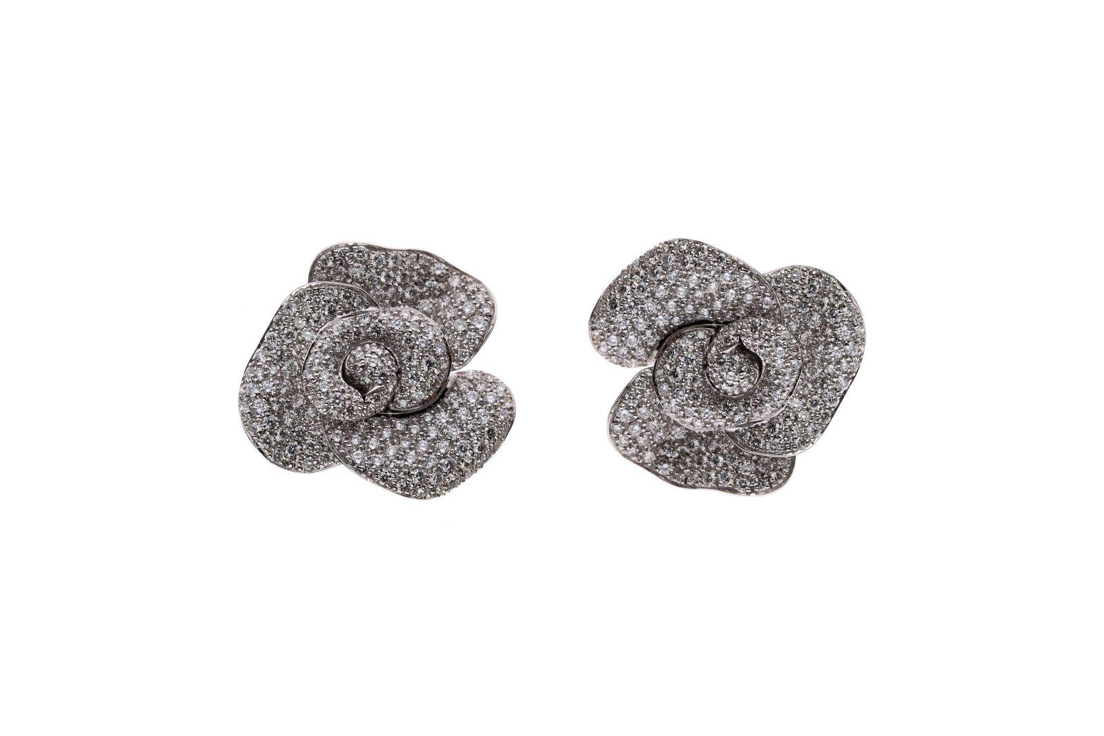 #104 Ear clips flowers | Ohrclipse Blüten Image