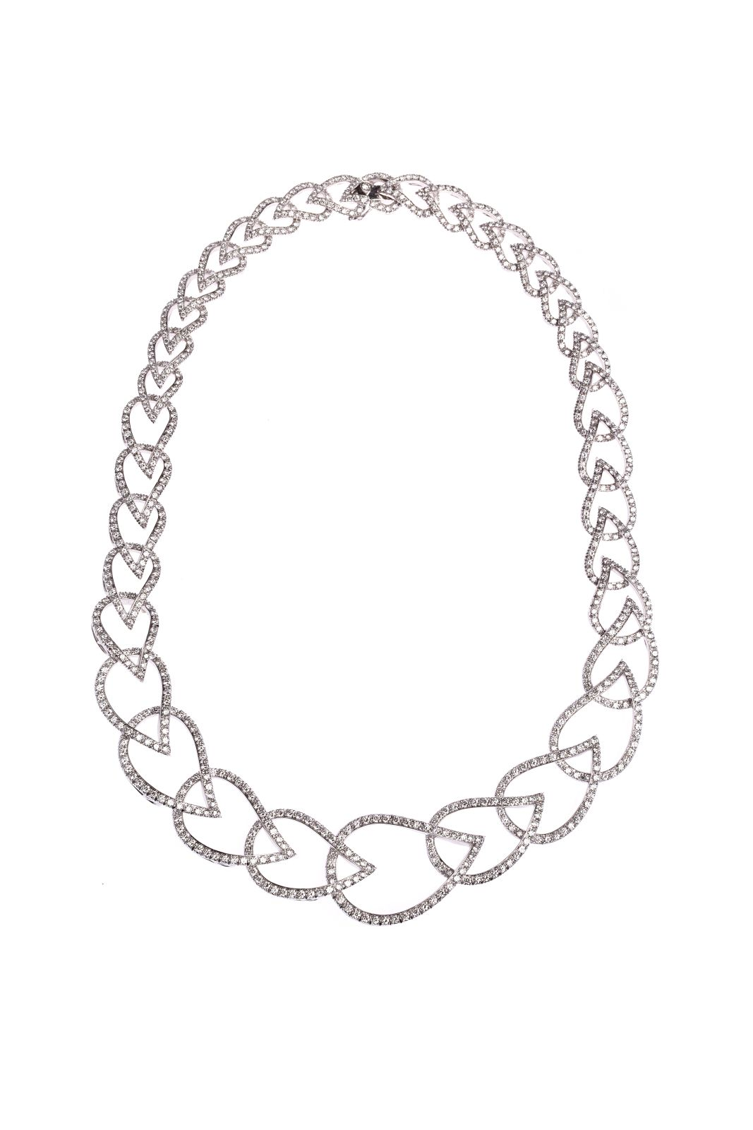 #107 Necklace with diamonds | Tropfen Collier Image