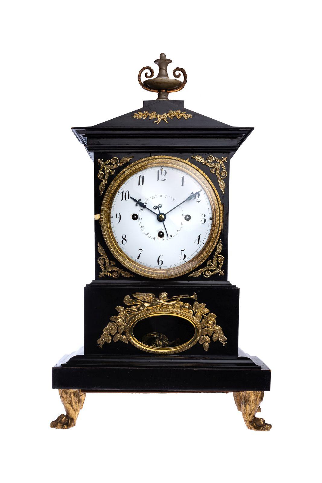 #19 Original Viennese Empire Clock arround 1860| Originale Wiener Empire Uhr um 1860 Image