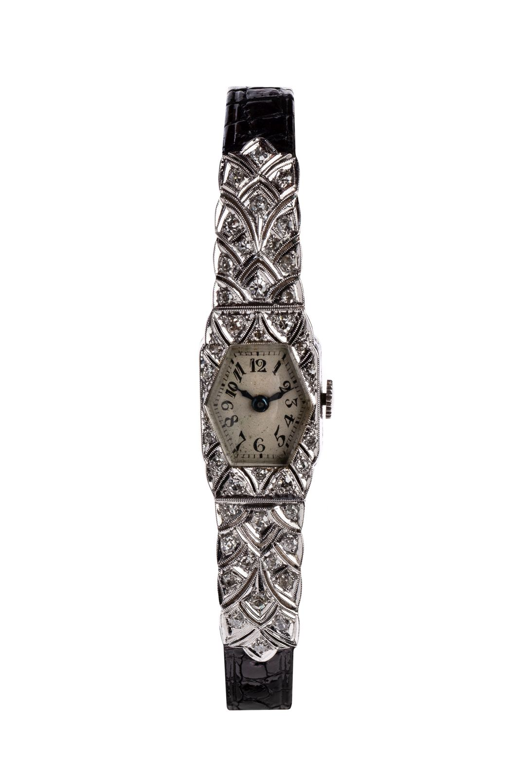 #26 Art Deco watch with stone setting | Art Deco Armbanduhr mit Steinbesatz Image