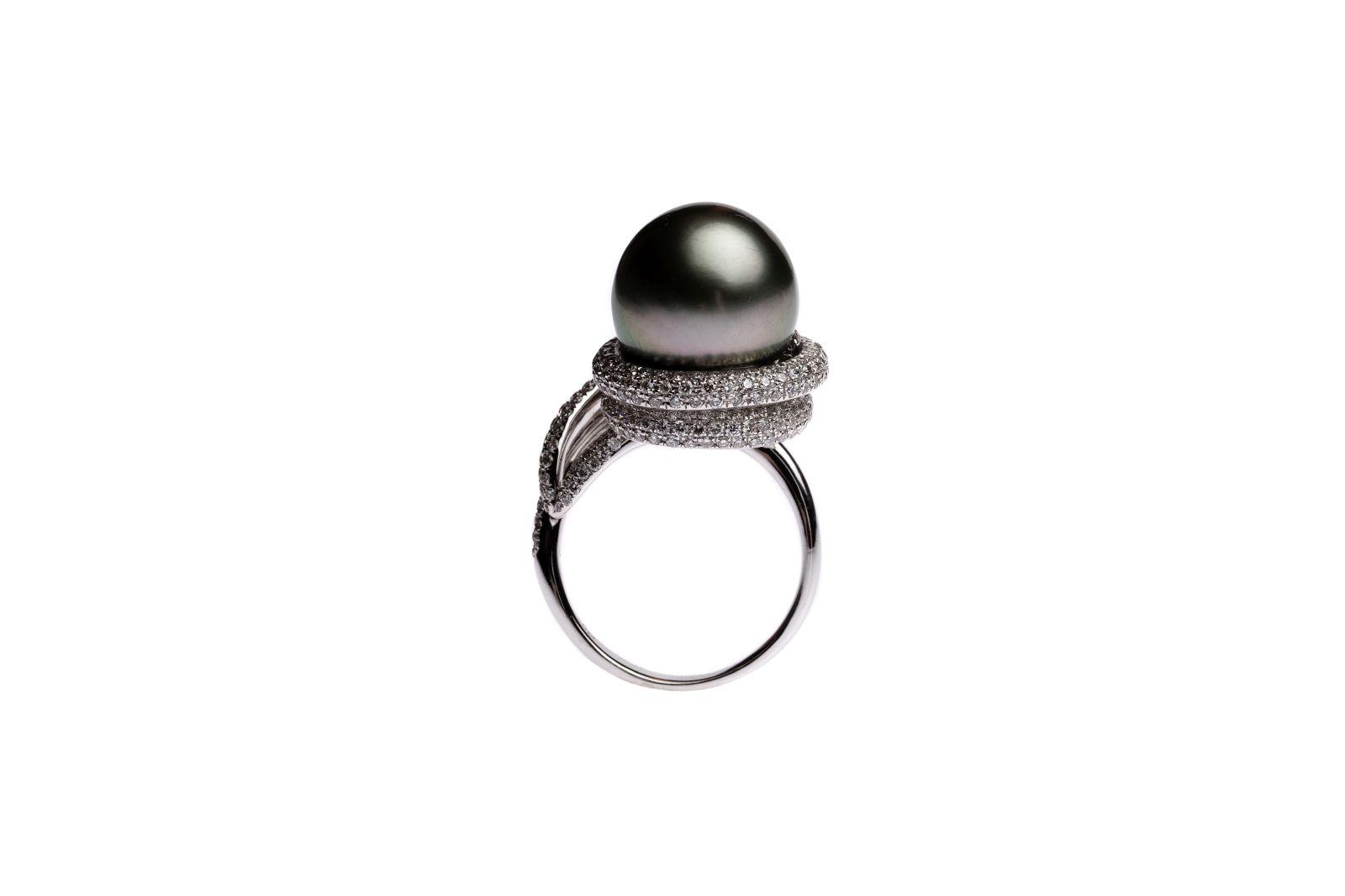#67 Tahiti pearl ring | Tahitiperlen Ring Image