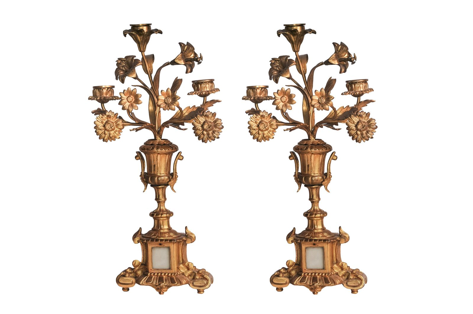 #110 A Pair of Brass CANDELABRAS | Paar Messing Kerzenleuchter Image