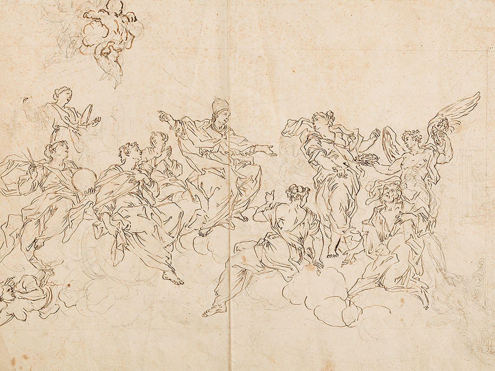 #12 Niccolò Lapi Attr., Allegory of the Papacy, 17th Century  Niccolò Lapi Zugeschr., Allegorie auf das Papsttums, 17. Jh. Image