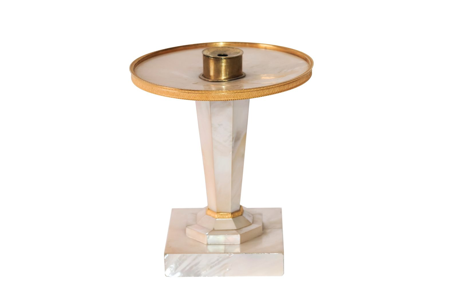 #133 Nacre oil lamp Vienna around 1830| Perlmutt-Öllampe Wien um 1830 Image