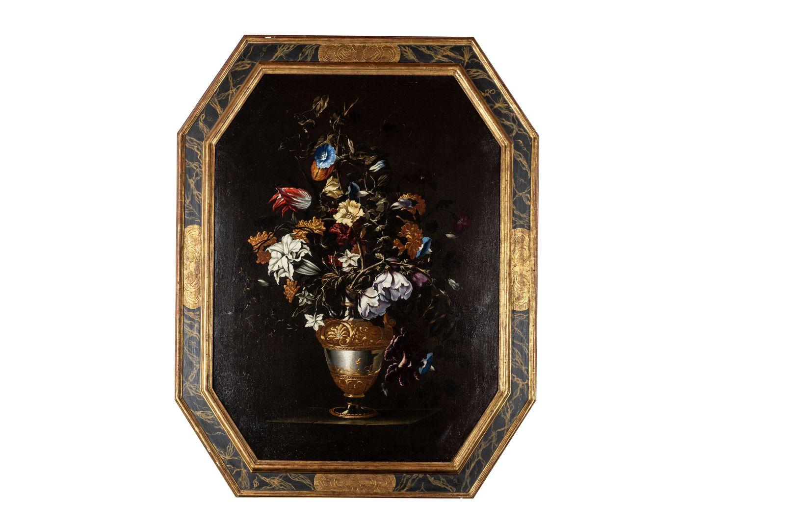 "#25 Mario Nuzzi, ""Flower still life"", oil, 17th century|Mario Nuzzi, ""Blumenstillleben"", Öl, 17. Jahrhundert Image"