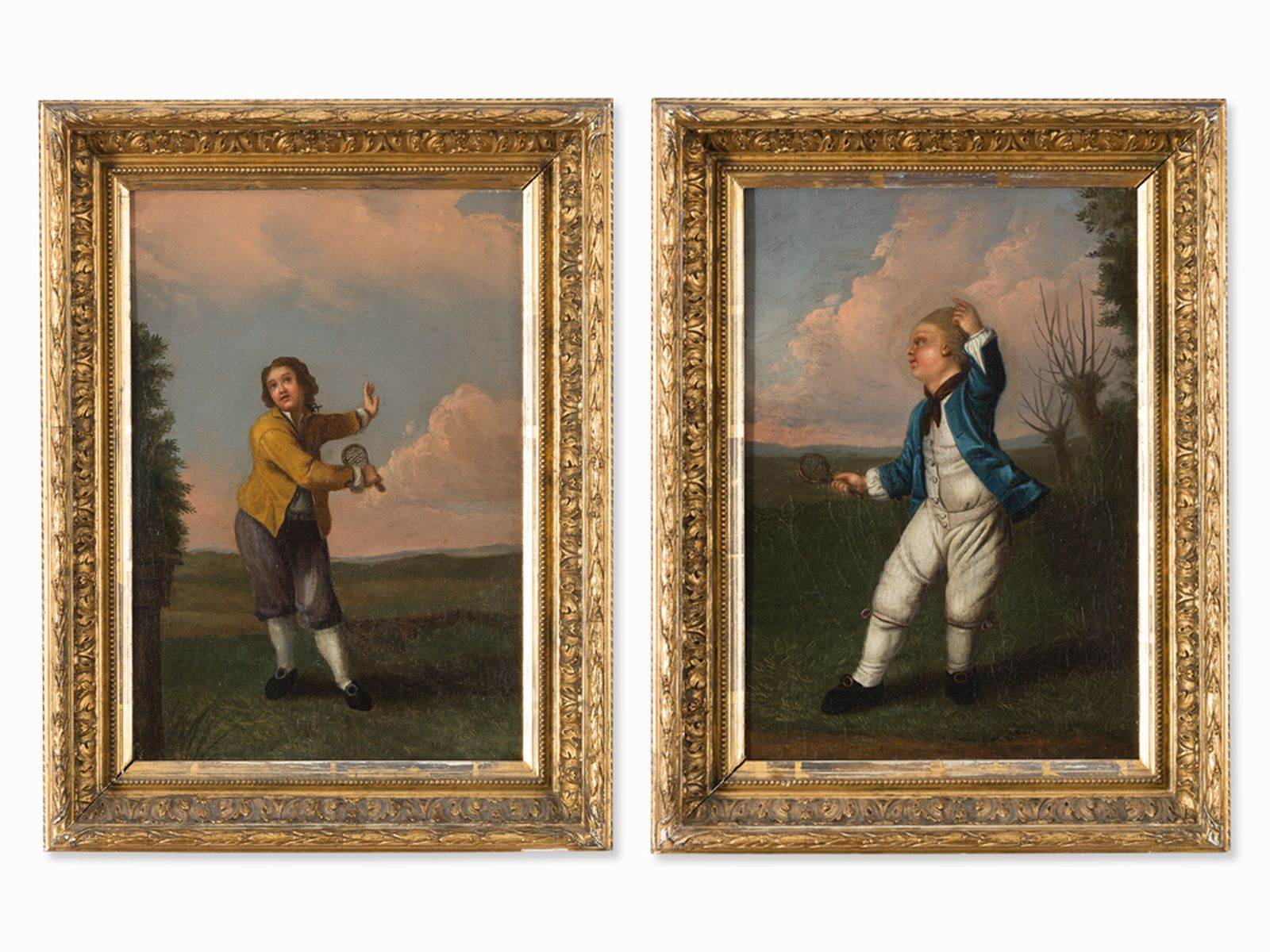 #26 English School, Late 18th C., Badminton Players| Englische Schule, Image