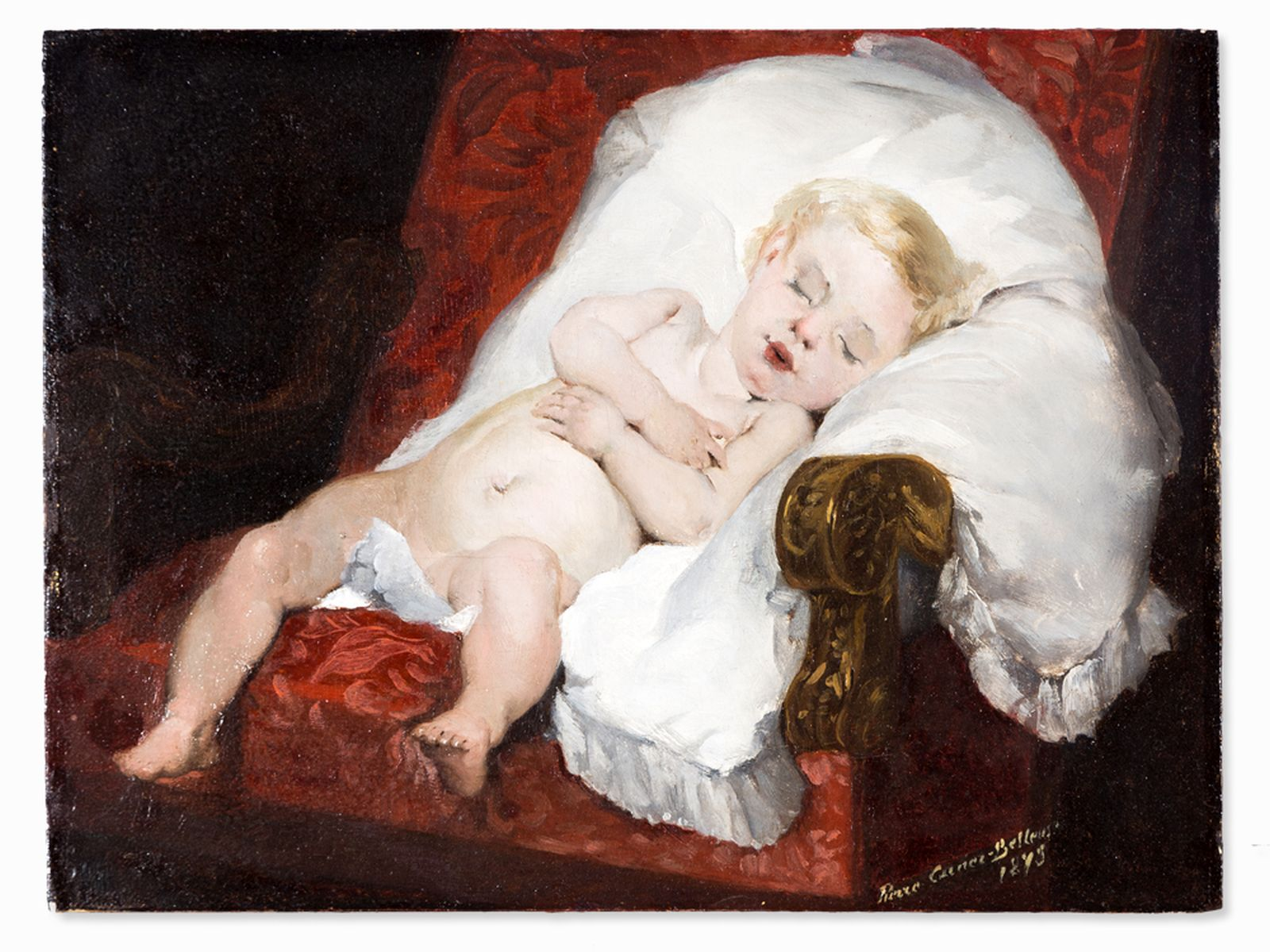 #30 Pierre Carrier-Belleuse (1851-1932), Sweet Dreams, Oil, 1893 | Pierre Carrier-Belleuse (1851-1932), Image