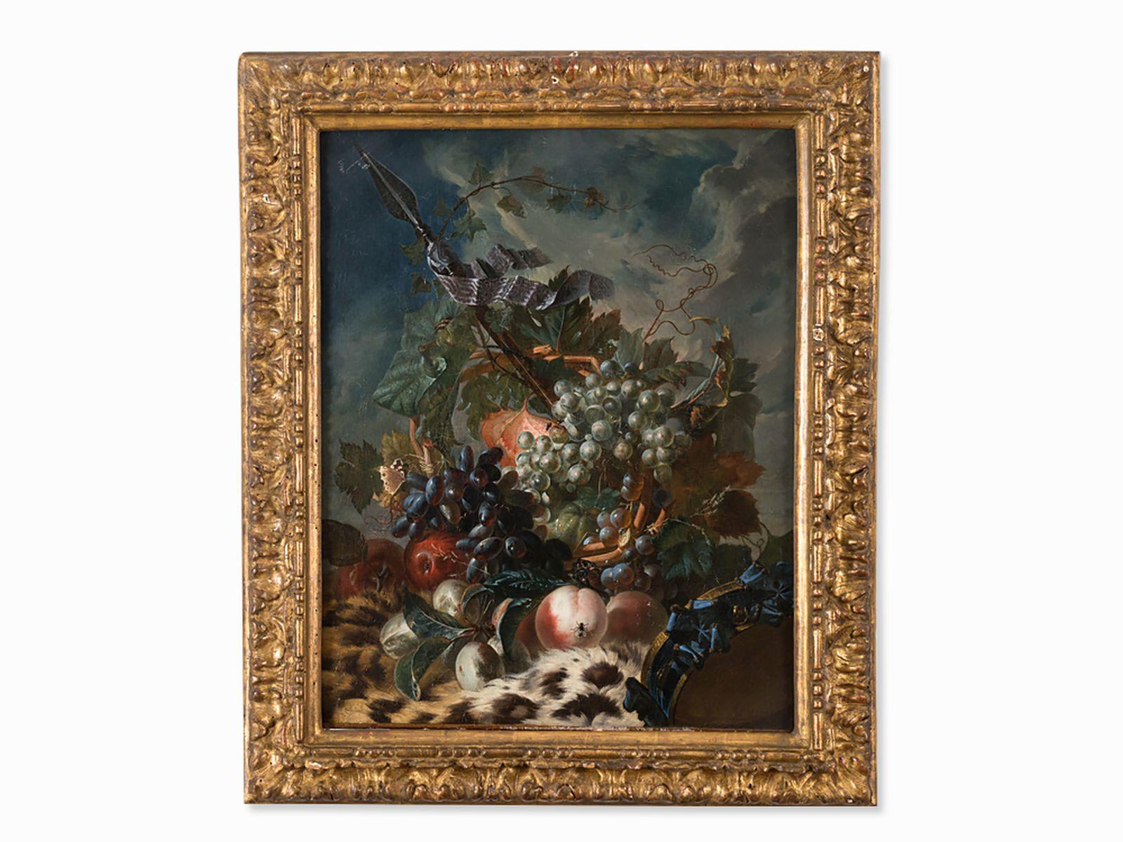 "#39 Miguel Parra (1780/84-1846), Still Life with Fruit & Lance, Oil | Miguel Parra (1780/84-1846), ""Früchtestillleben mit Lanze"", Öl Image"
