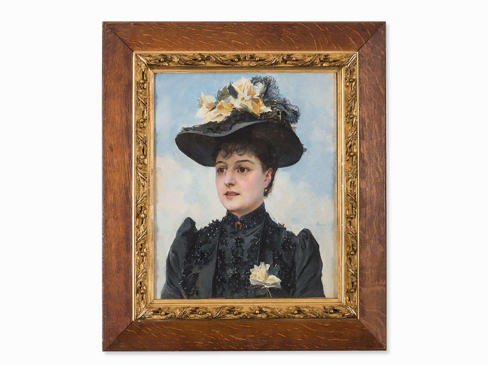 #4 Paul Jean Gervais (1859-c.1936), Portrait of a Lady, circa 1900 |Paul Jean Gervais (1859-ca.1936), Image