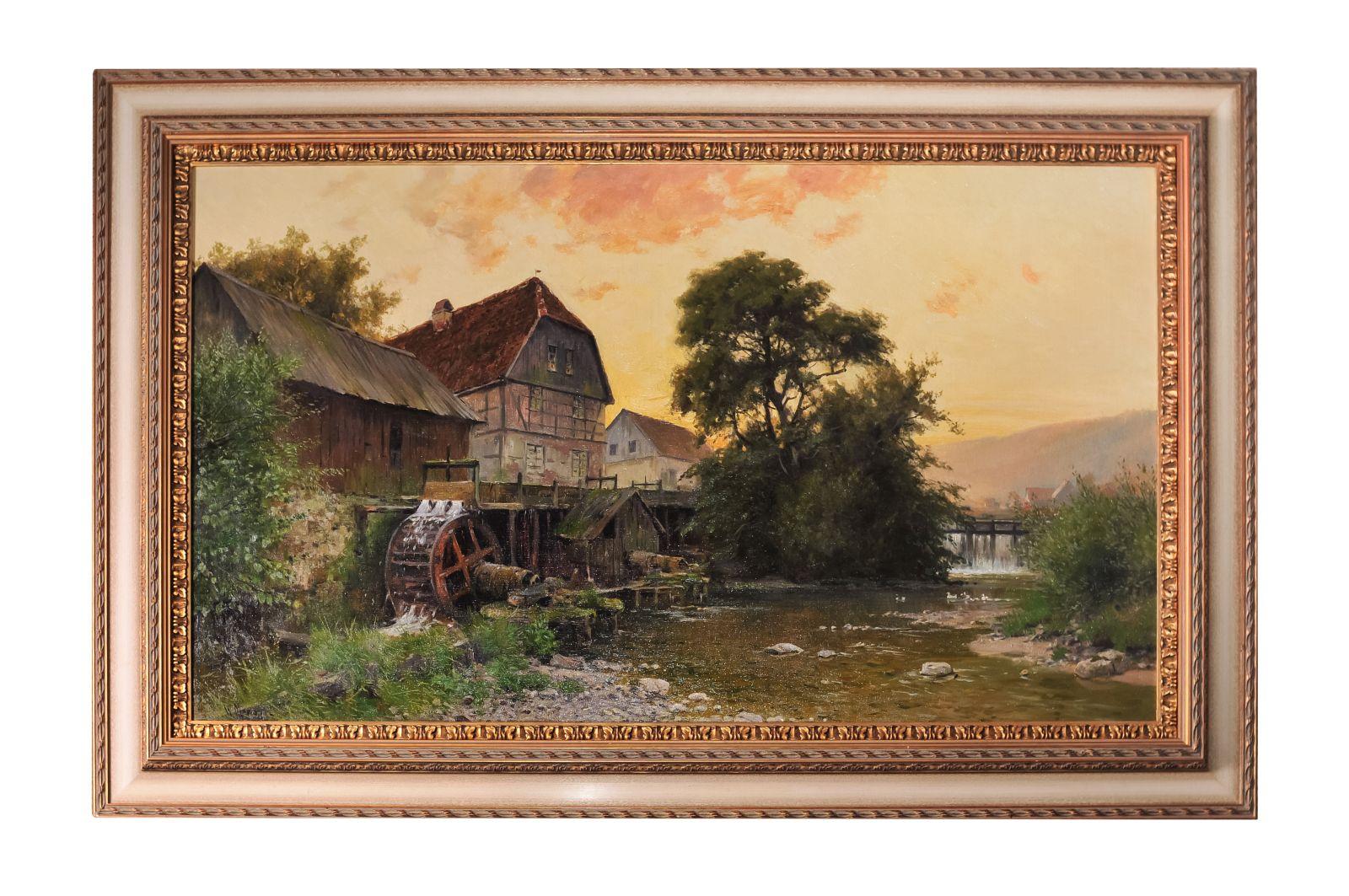 "#42 Moras Walter ""Watermill near Marburg"" Berlin 1925| Moras Walter  ""Wassermühle bei Marburg"" Berlin 1925 Image"
