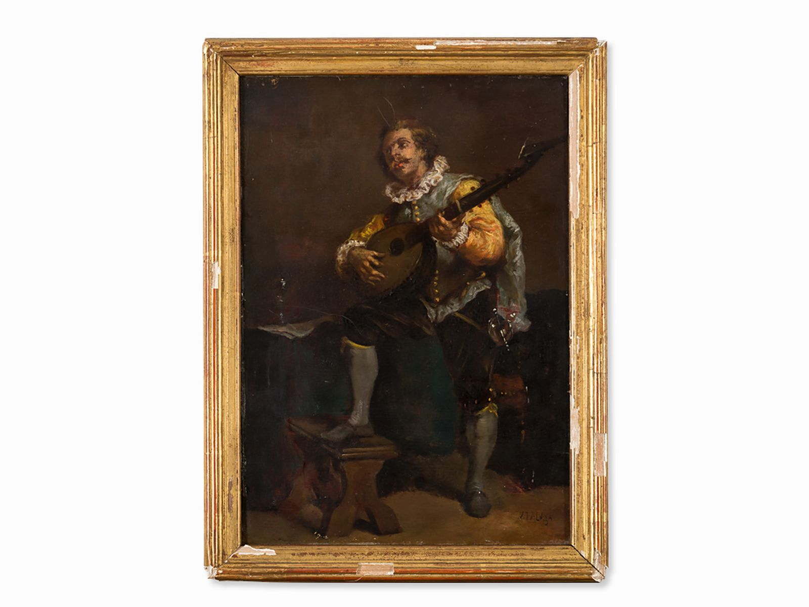 #5 Enrique Atalaya (1851-1914), Man Playing The Lute, Oil, c. 1880 | Enrique Atalaya (1851-1914), Image