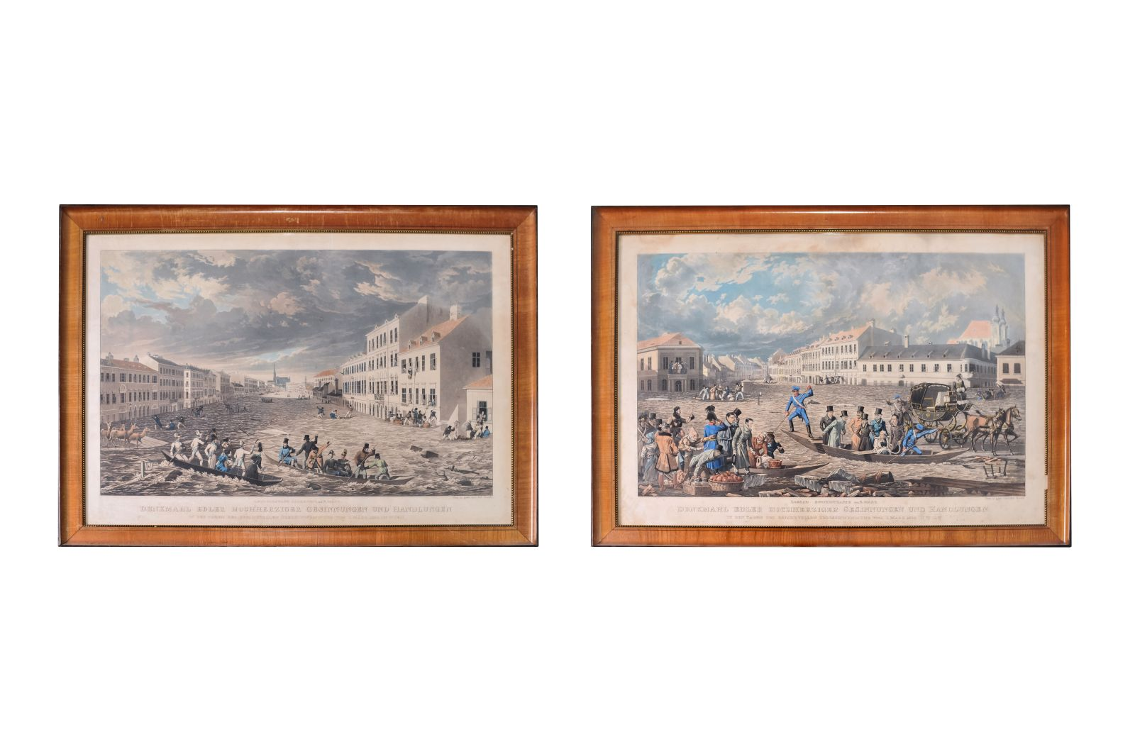 #79 Eduard Gurk (1801-1841) depictions from the days of the dangerous flooding of Vienna |Eduard Gurk (1801-1841) Darstellungen aus den Tagen der gefahrvollen Überschwemmung Wiens Image